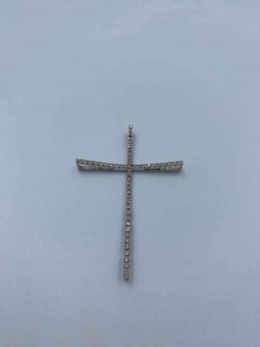 Pingente Ester Nigri Crucifixo Brilhantes