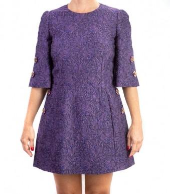Vestido Dolce & Gabbana Roxo com Pedrarias