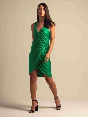 Vestido Iodice Franzido Verde
