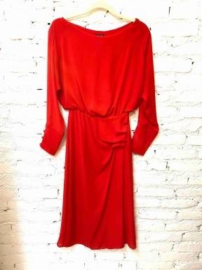 Vestido Iorane Midi Pregas Vermelho