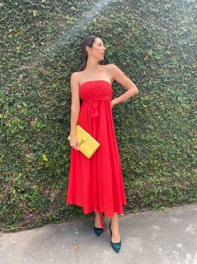 Vestido Maria Manoela Vermelho