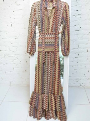 Vestido Mixed Estampa Missoni