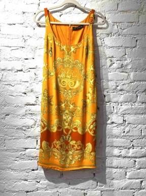 Vestido Versace Estampado Laranja