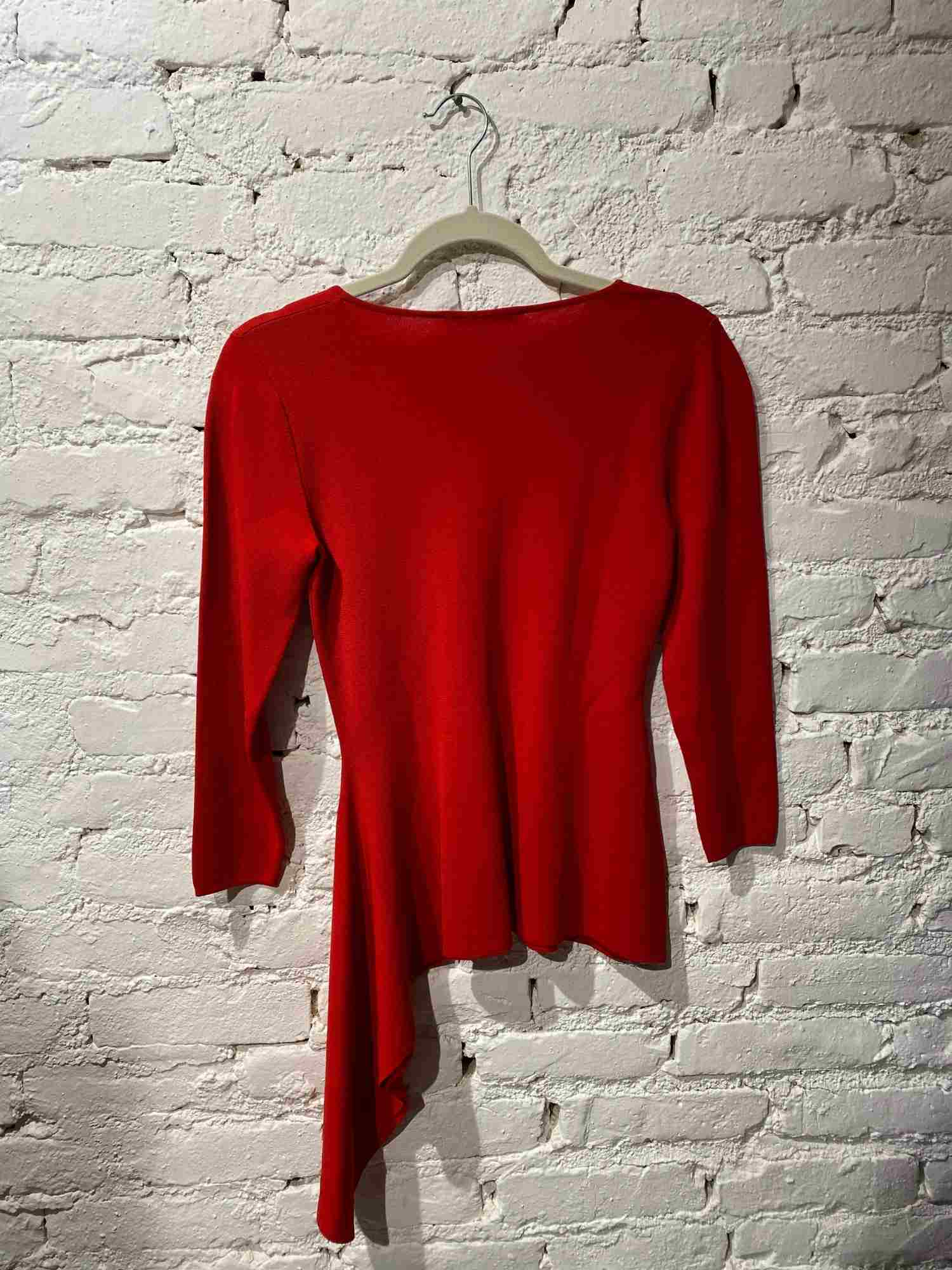 Blusa Carolina Herrera Tricot Vermelha
