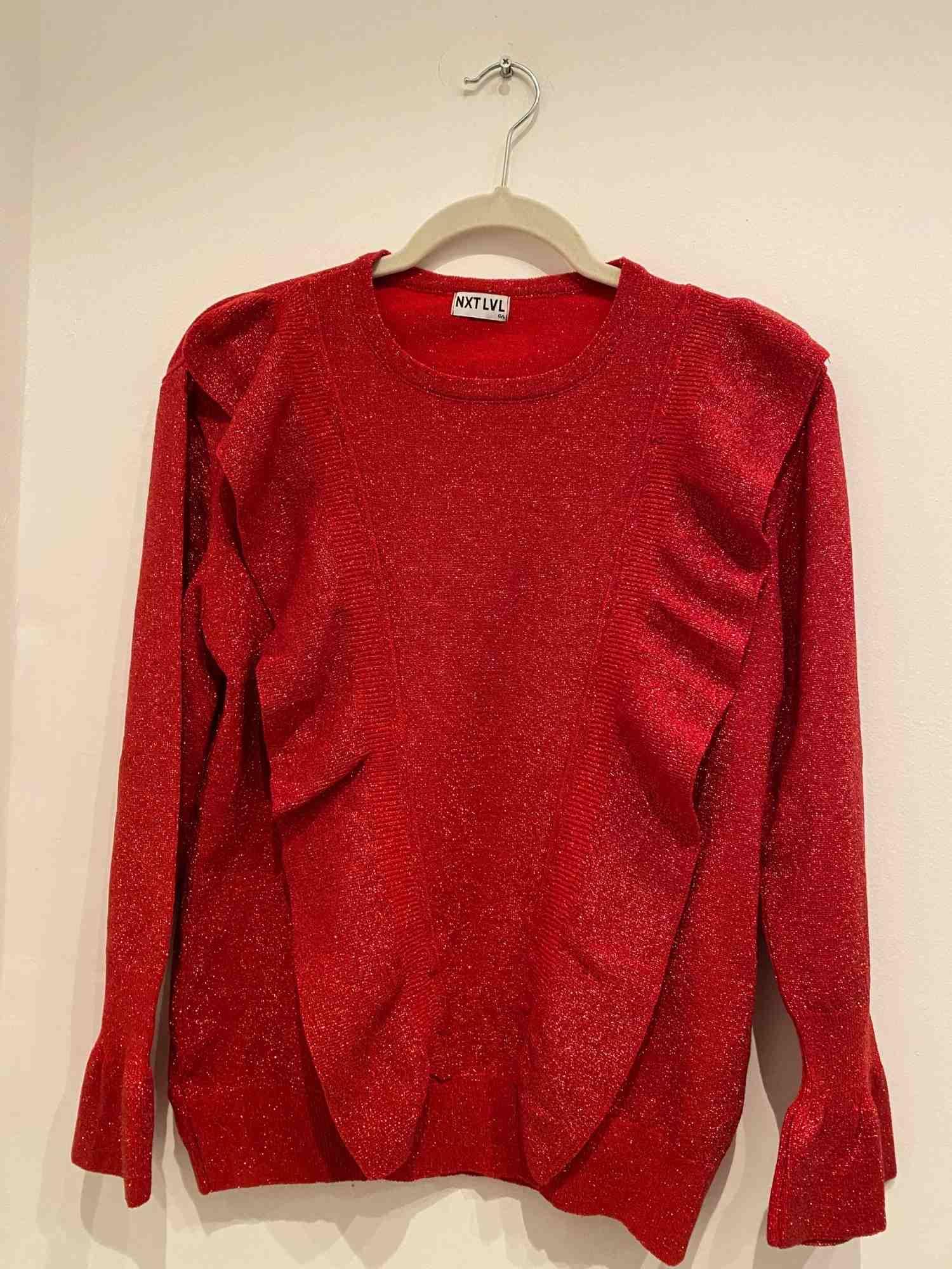 Blusa NXT LVL Lurex Vermelha