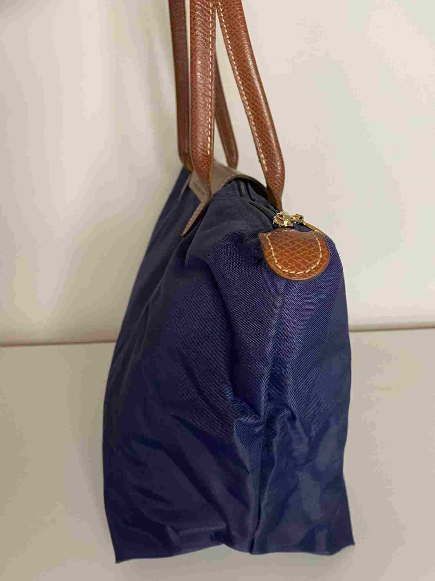 Bolsa Longchamp Le Pliage Azul Grande