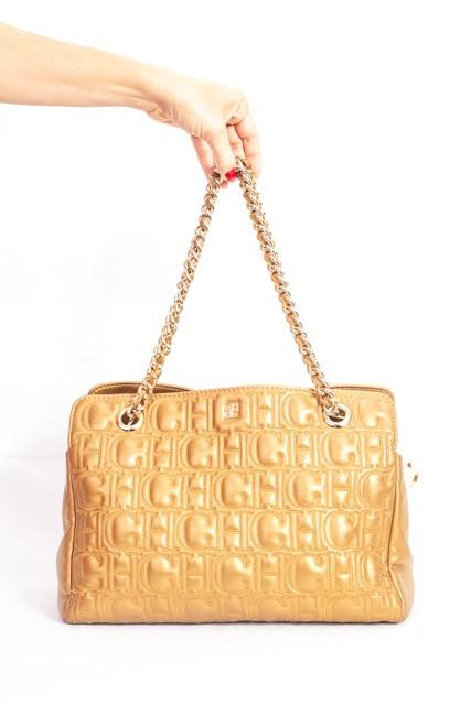 Bolsa Carolina Herrera Ouro Velho