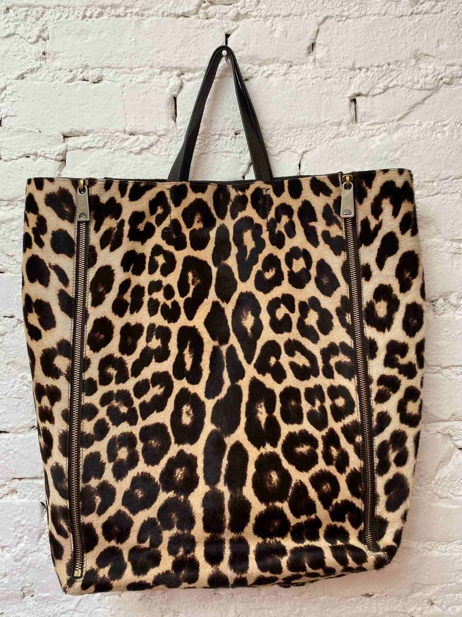 Bolsa Celine Gusset Leopard Zipper