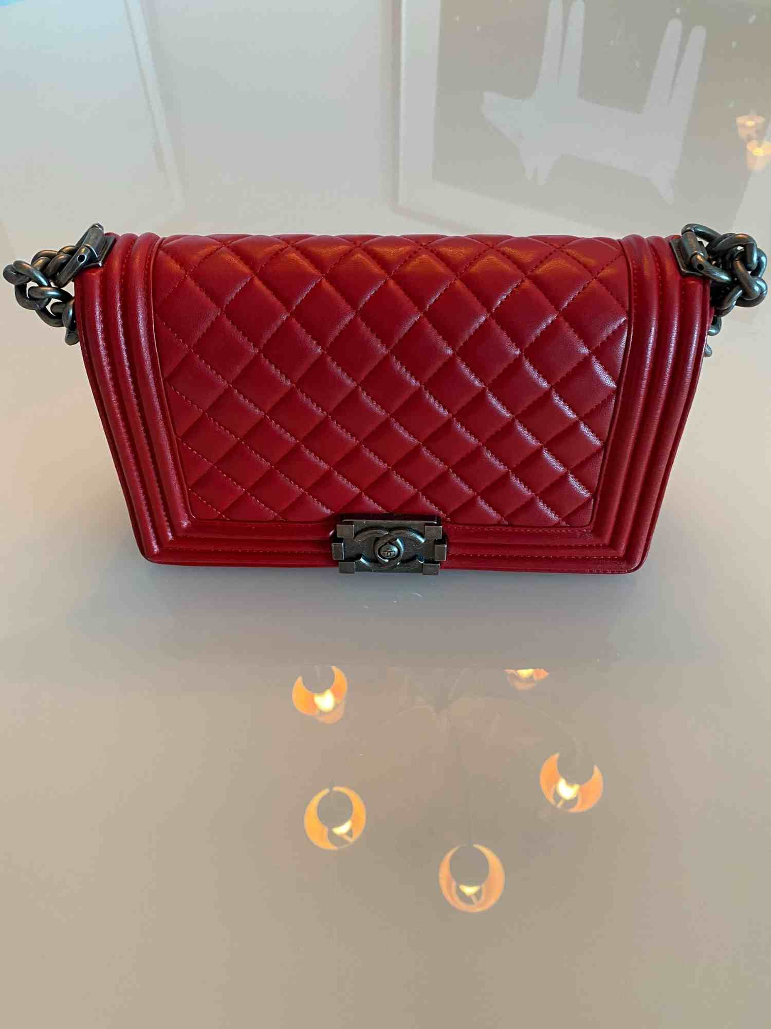 Bolsa Chanel Boy Vermelha