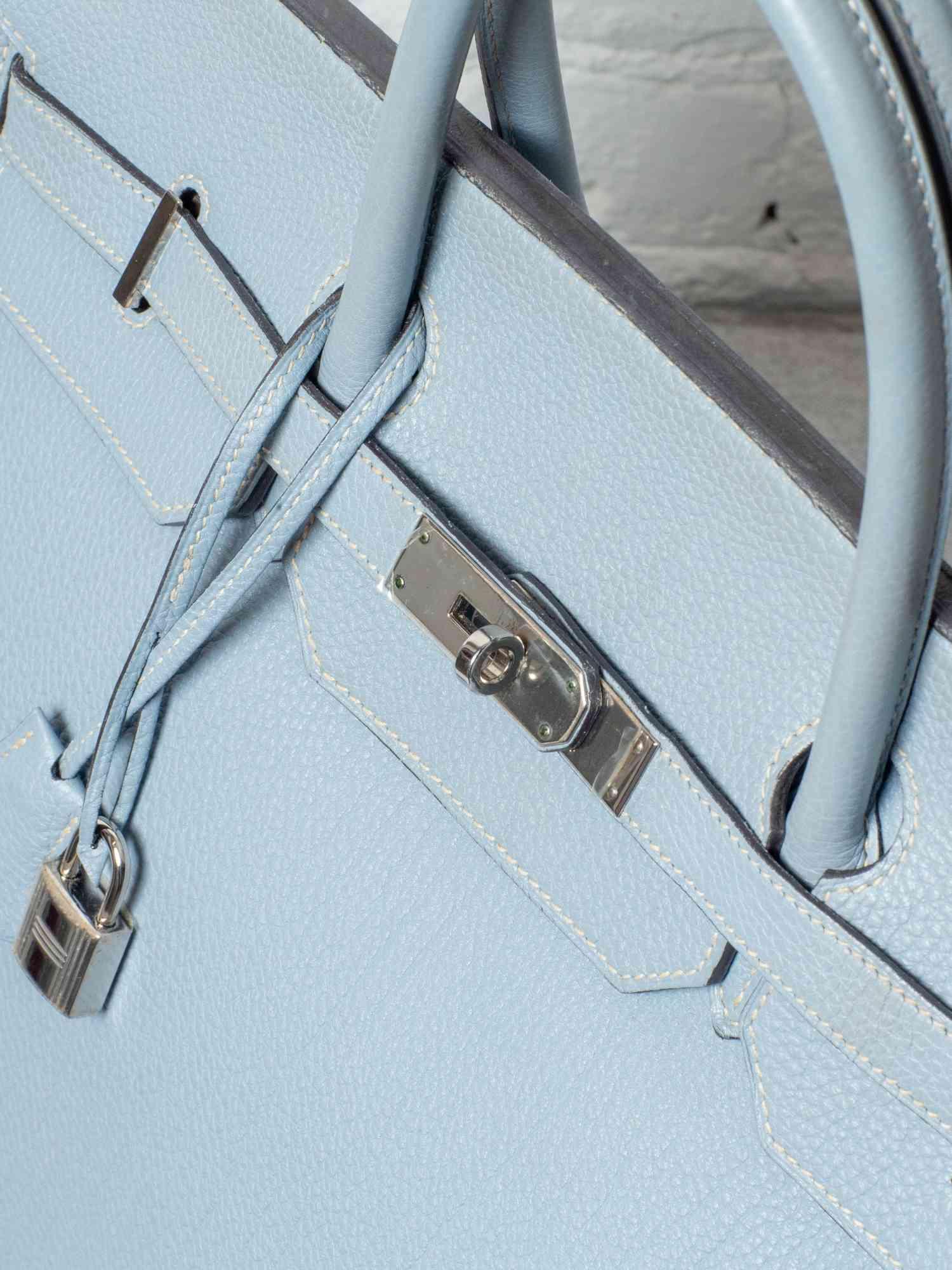 Bolsa Hermès Birkin 40 Azul