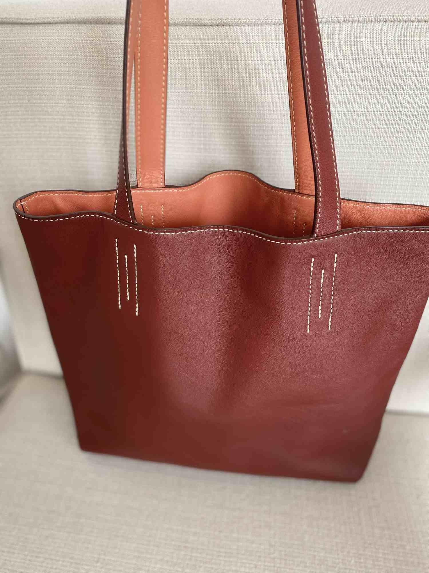 Bolsa Hermès Double Sens Bicolor