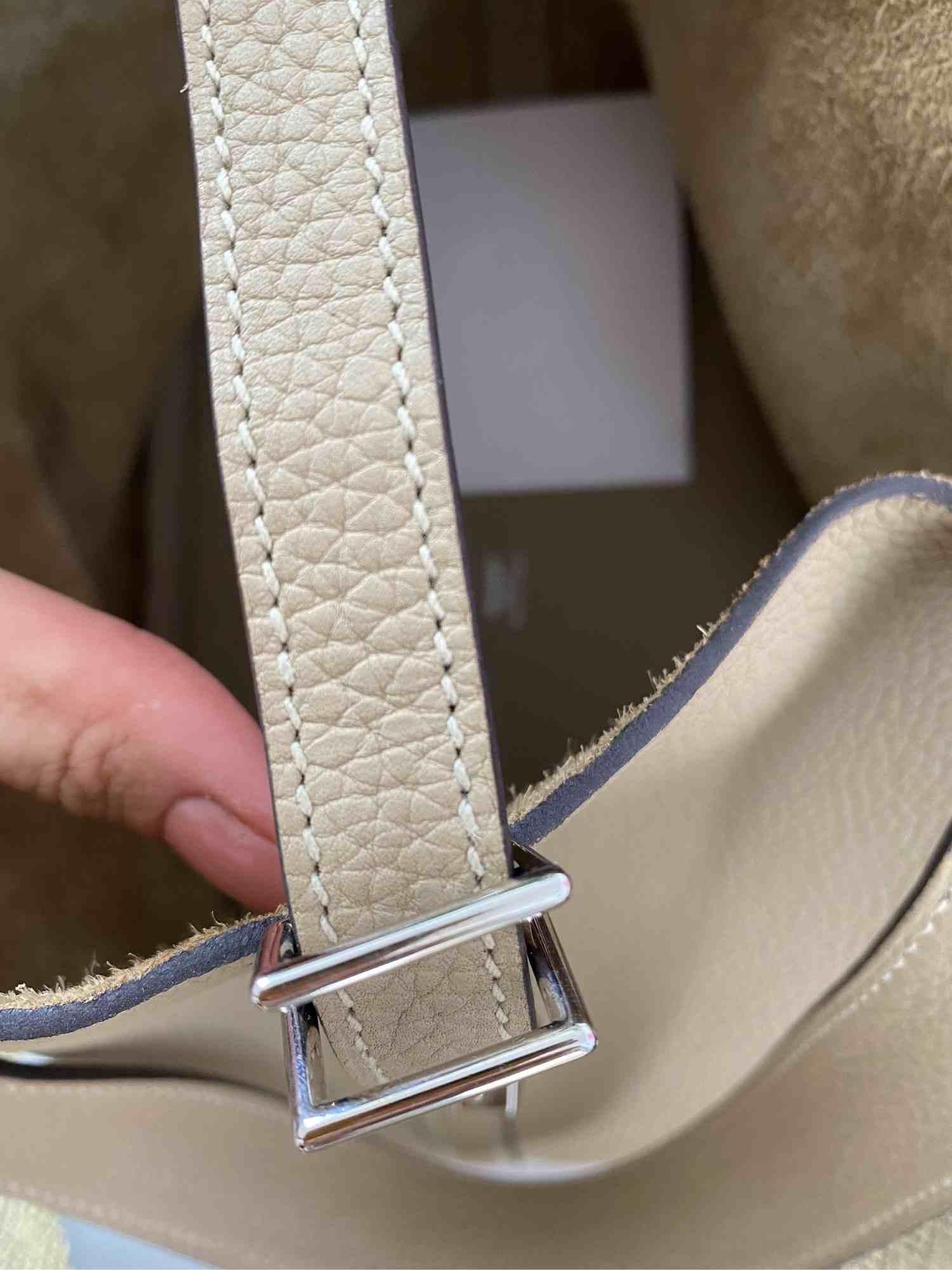 Bolsa Hermès Picotin Lock Bege