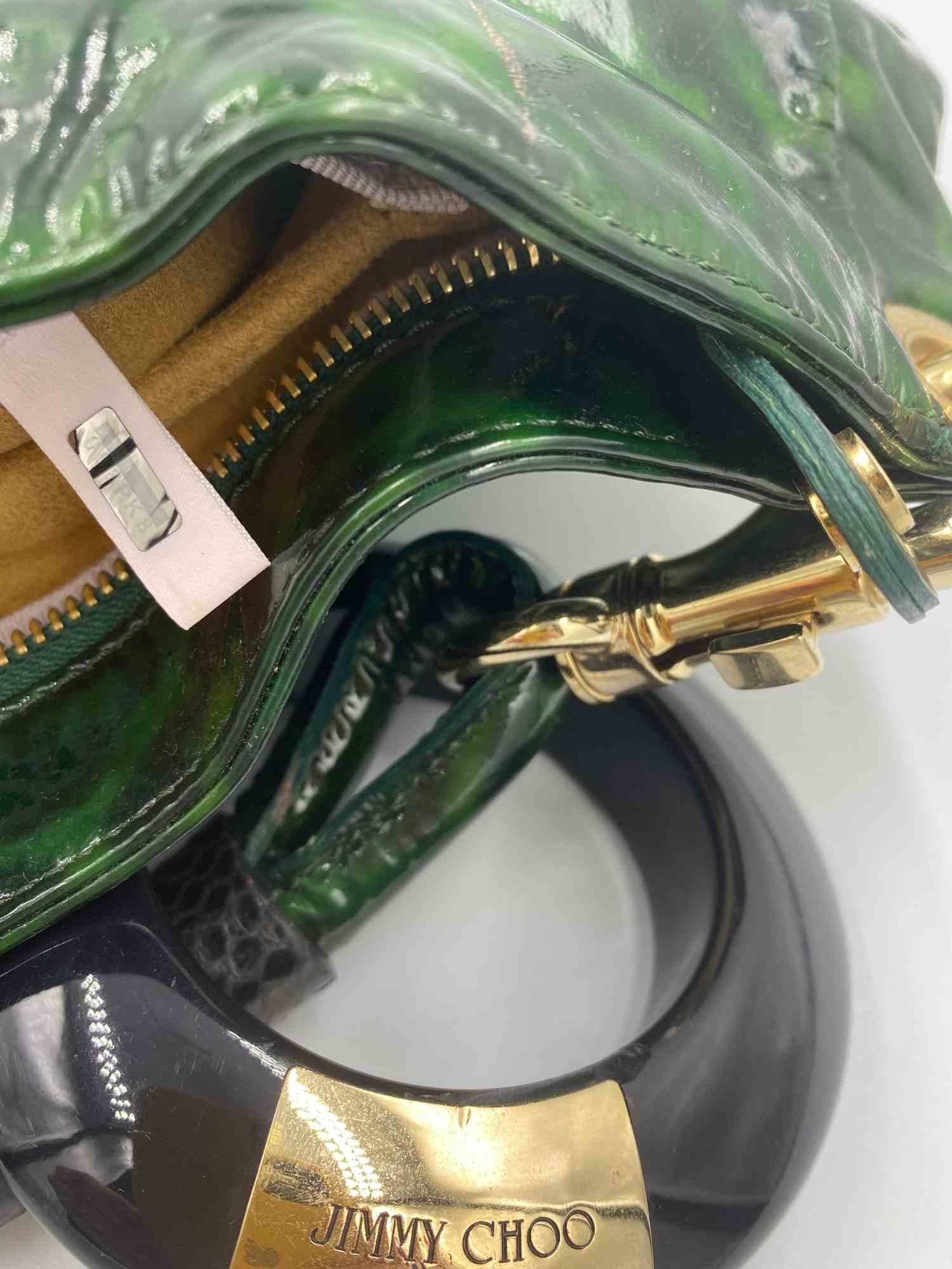 Bolsa Jimmy Choo Onça Verde