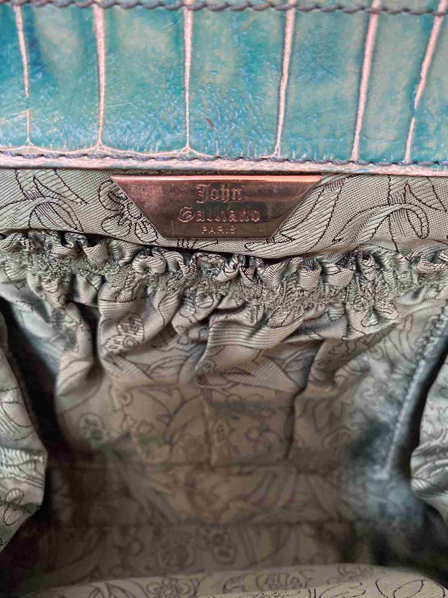 Bolsa John Galliano Em Couro Acrílico Com Estampa Floral