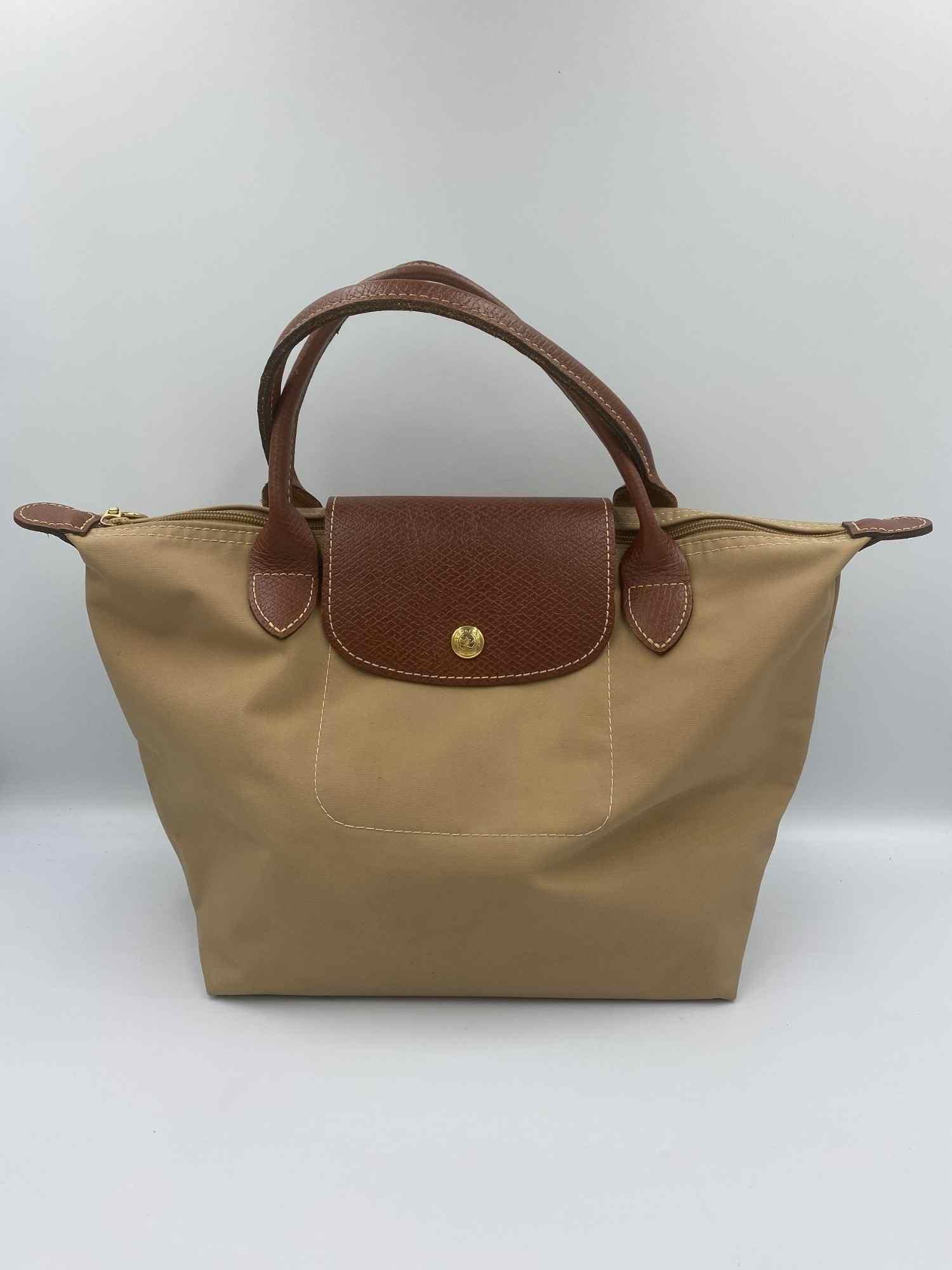 Bolsa Longchamp Le Pliage Bege Pequena