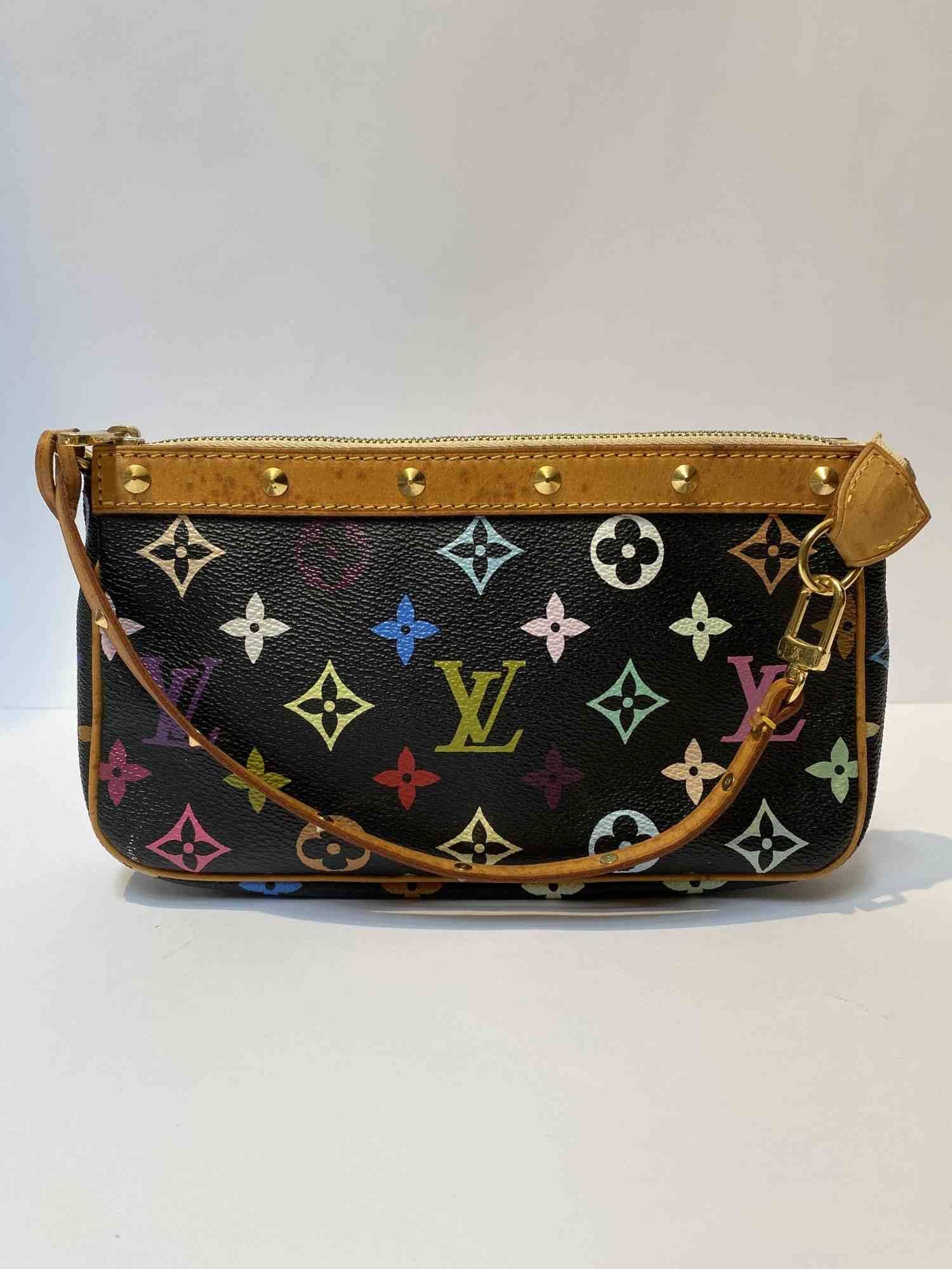 Bolsa Louis Vuitton Pochette Monograma Colorida