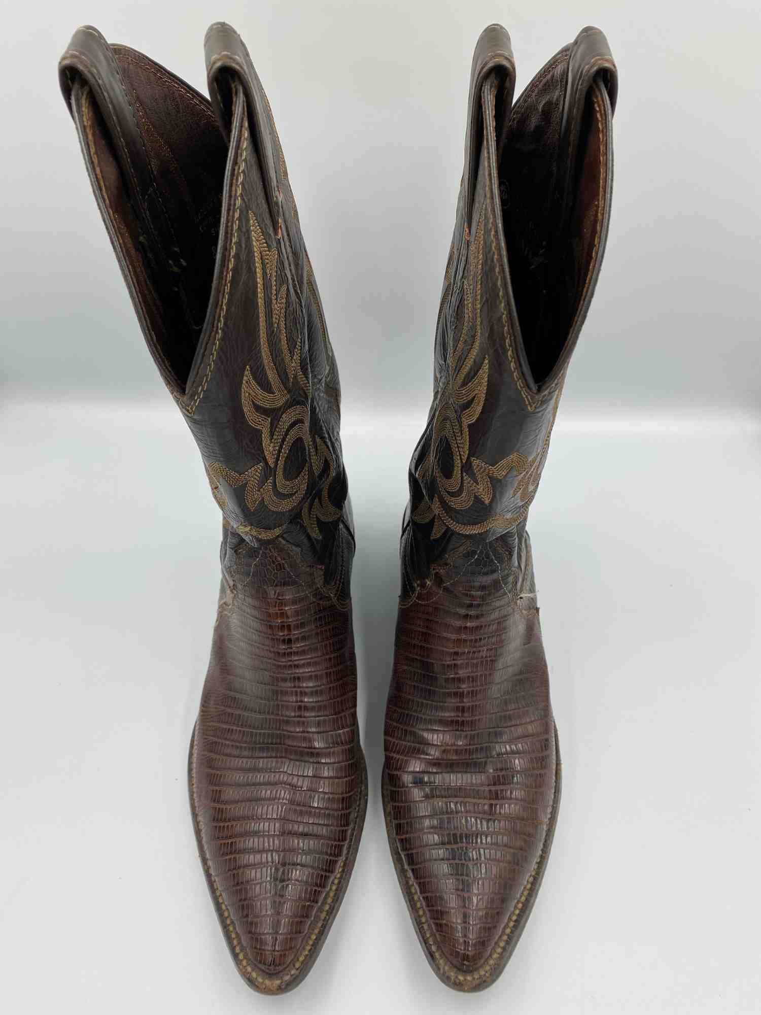 Bota Justin Cowboy Marrom
