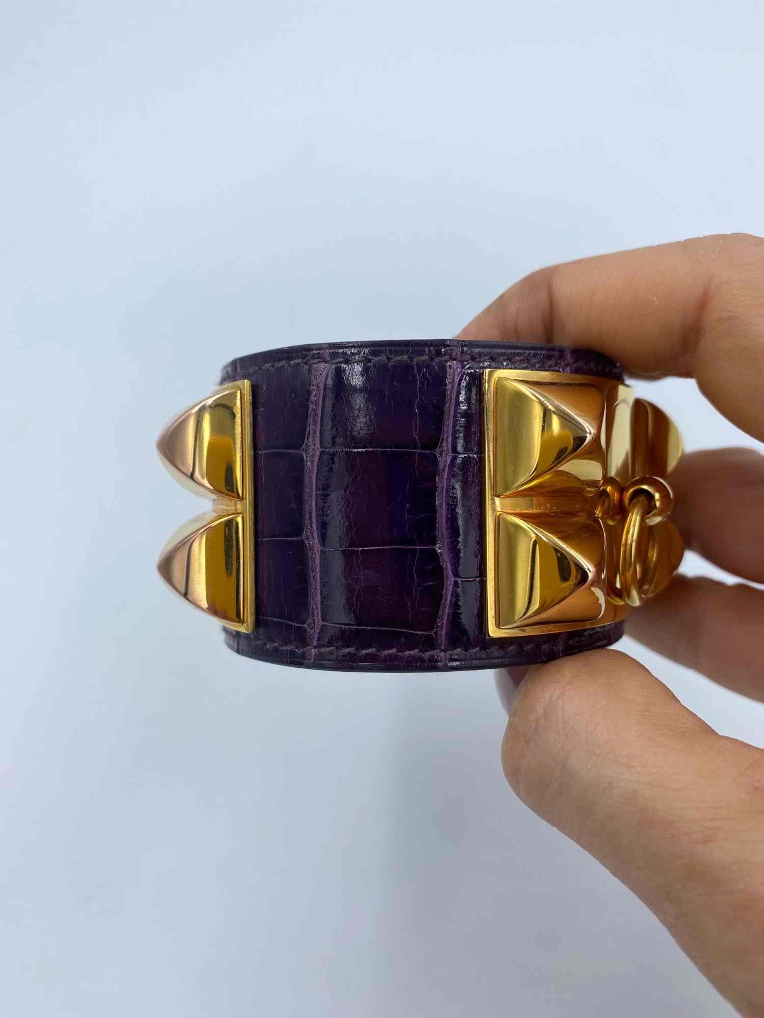 Bracelete Hermès Medor Crocodilo