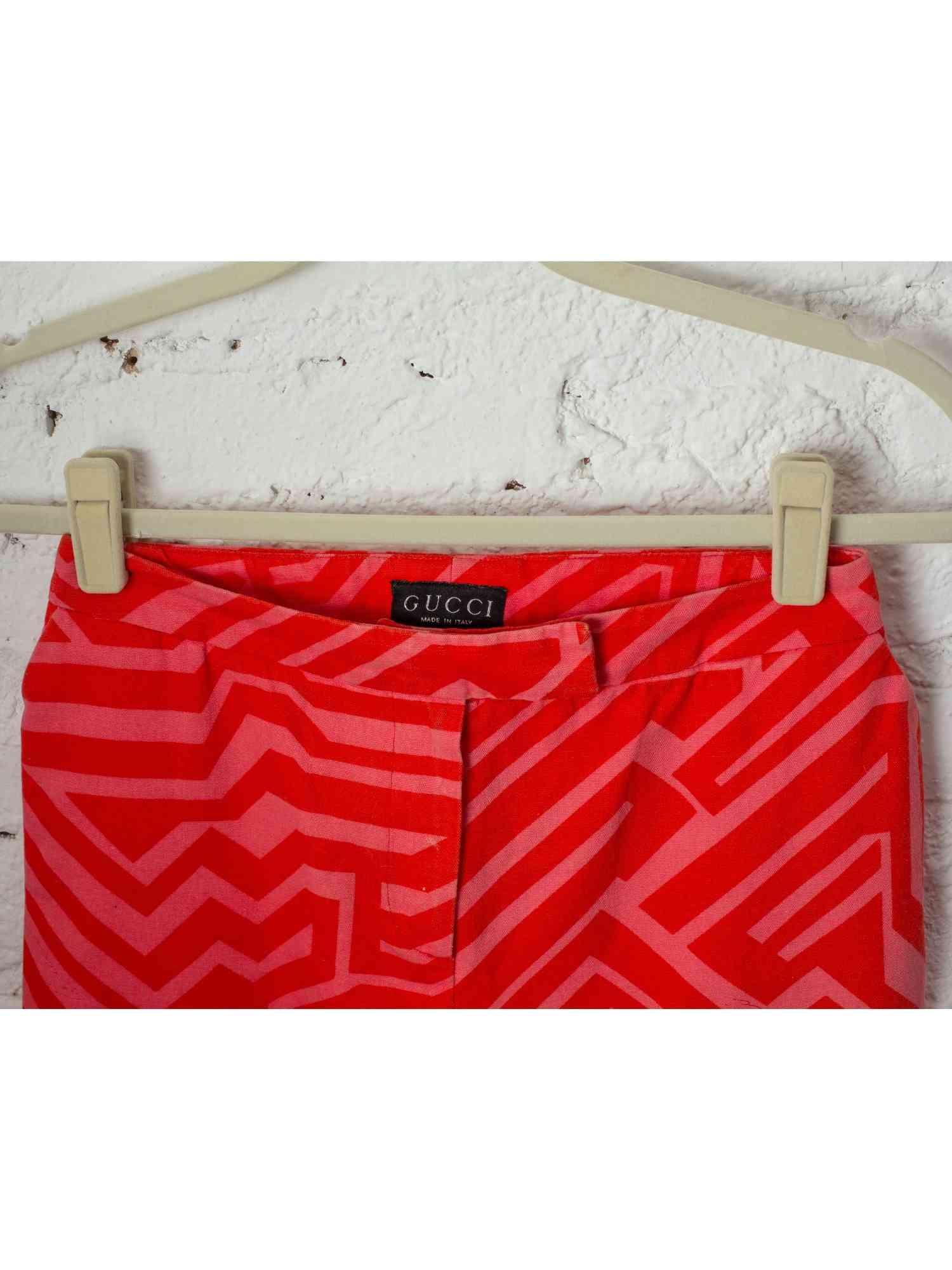 Calça Gucci Vermelha Skinny