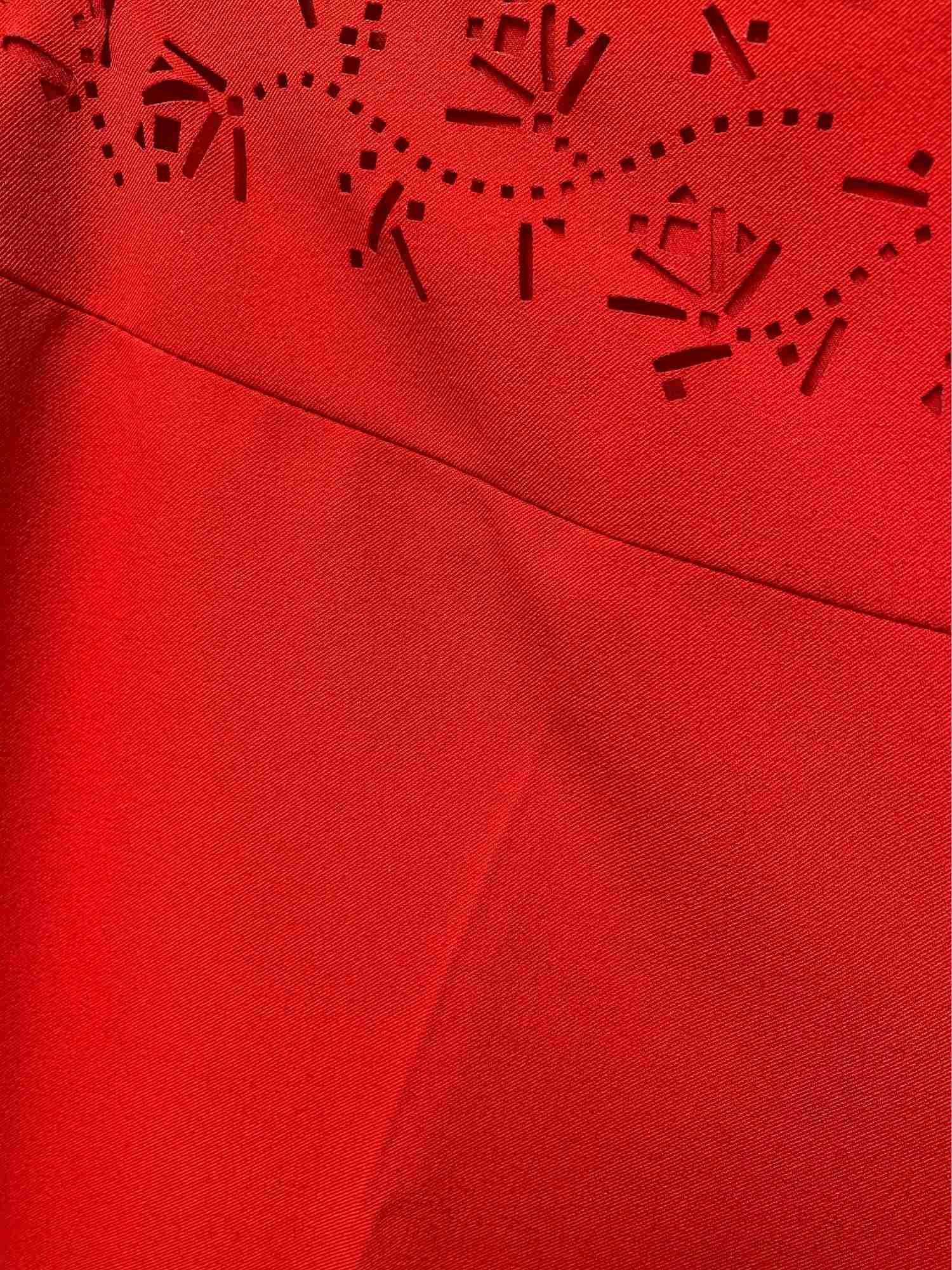 Calça Valentino Crepe Vermelho