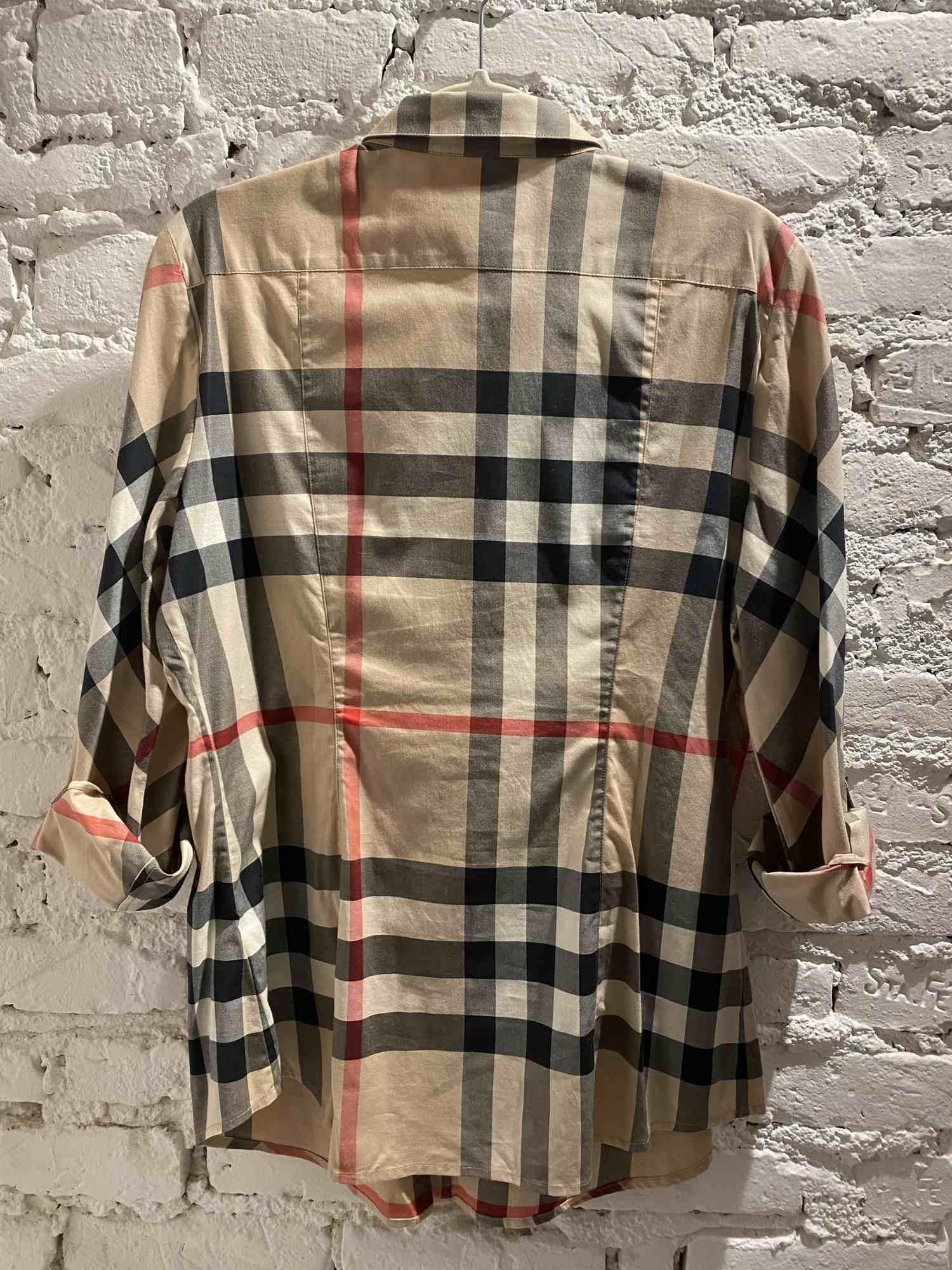Camisa Burberry Brit Xadrez e Pied de Poule