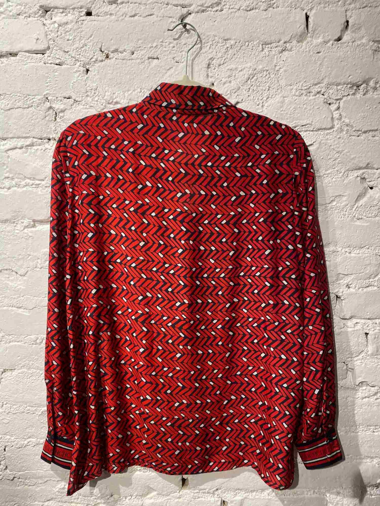 Camisa Carolina Herrena Seda Vermelha