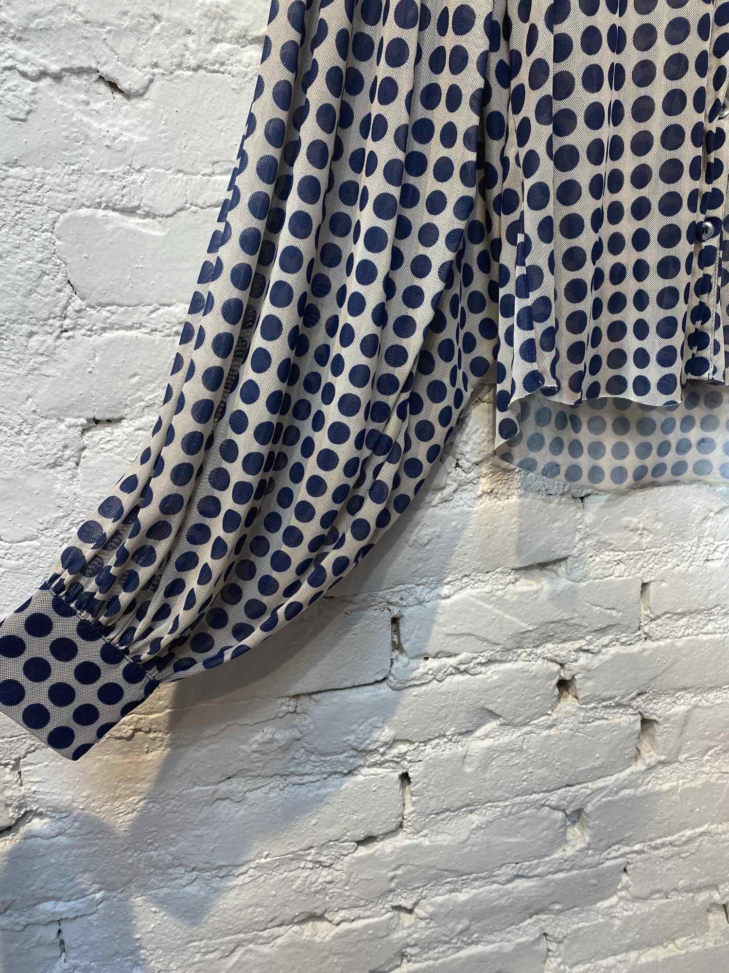 Camisa Iorane Poá Azul