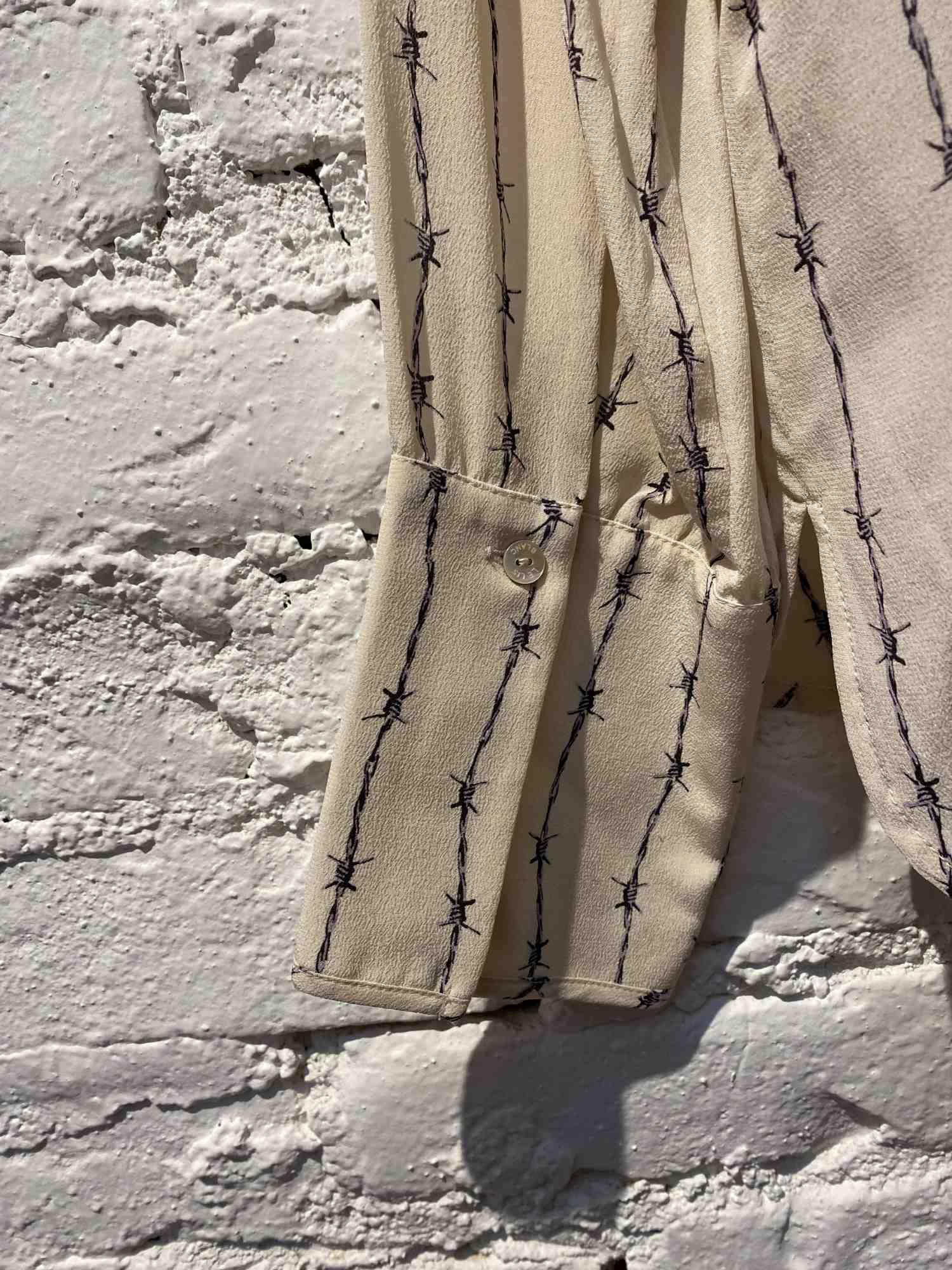 Camisa Le Lis Blanc Seda Arame Farpado