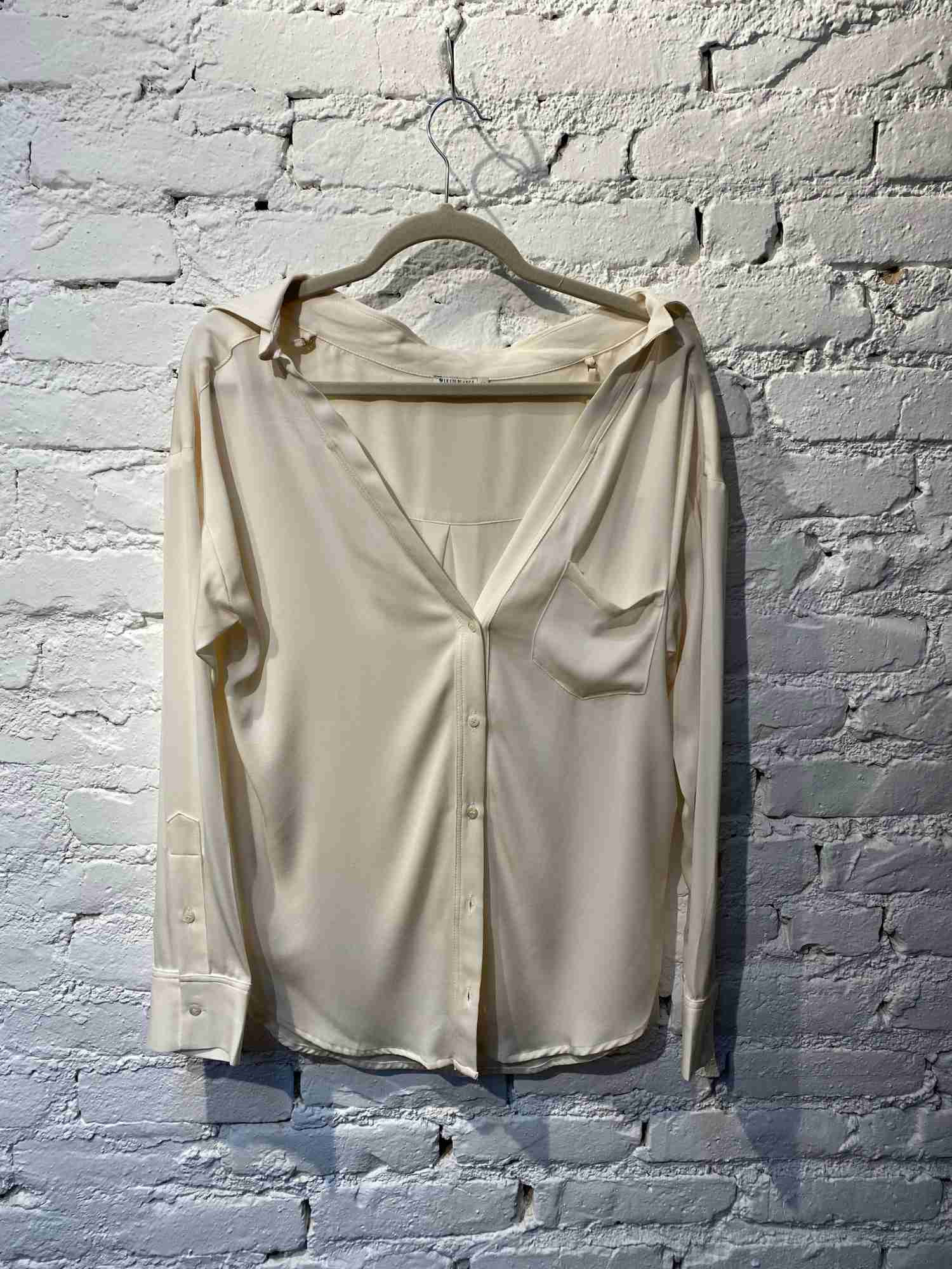 Camisa Le Lis Blanc Seda Off White