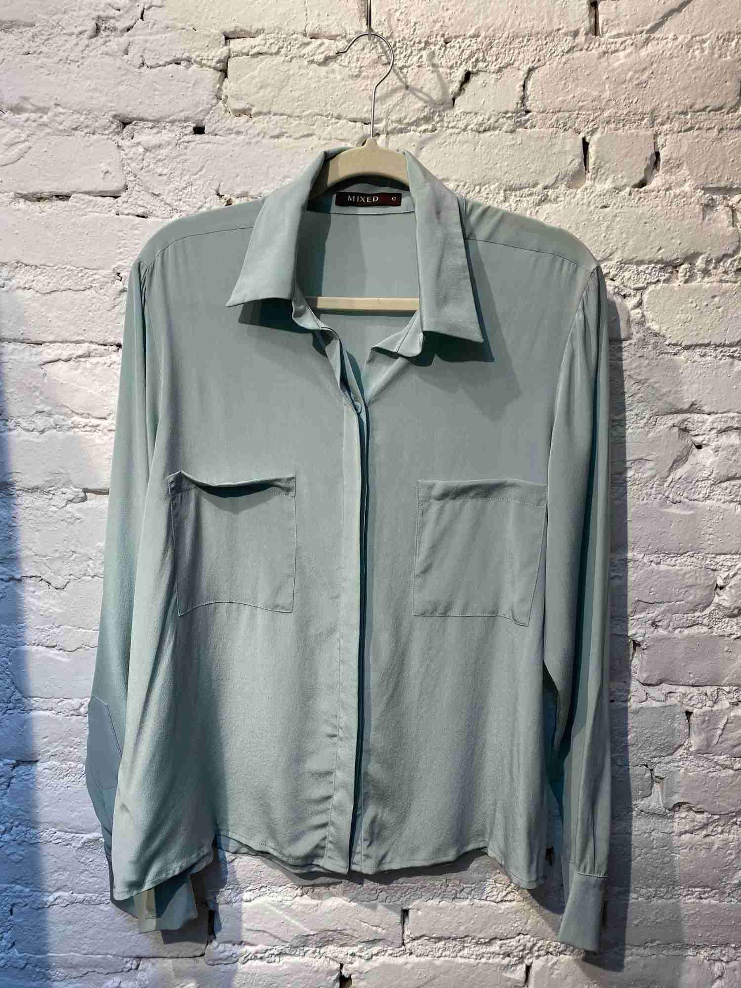 Camisa Mixed Seda Verde