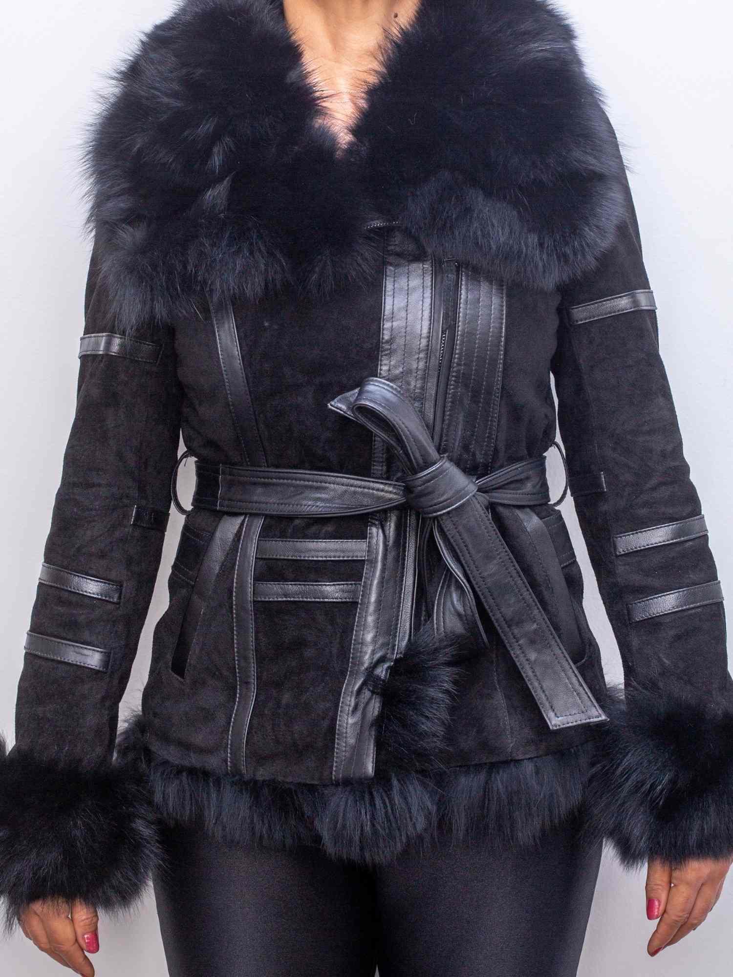 Casaco Coats Camurça Com Couro e Pele Legítimos