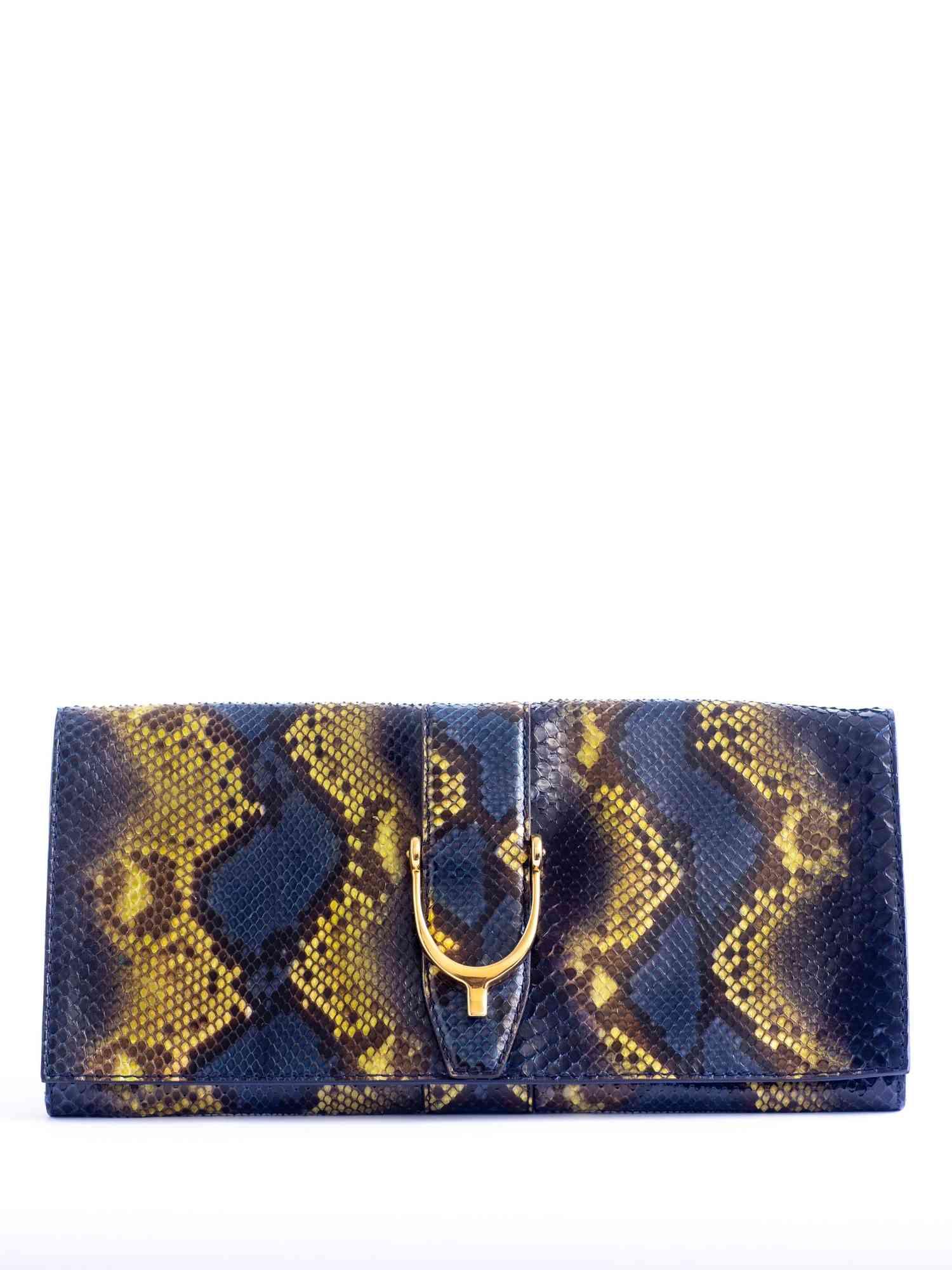 Clutch Gucci Python Azul e Amarelo