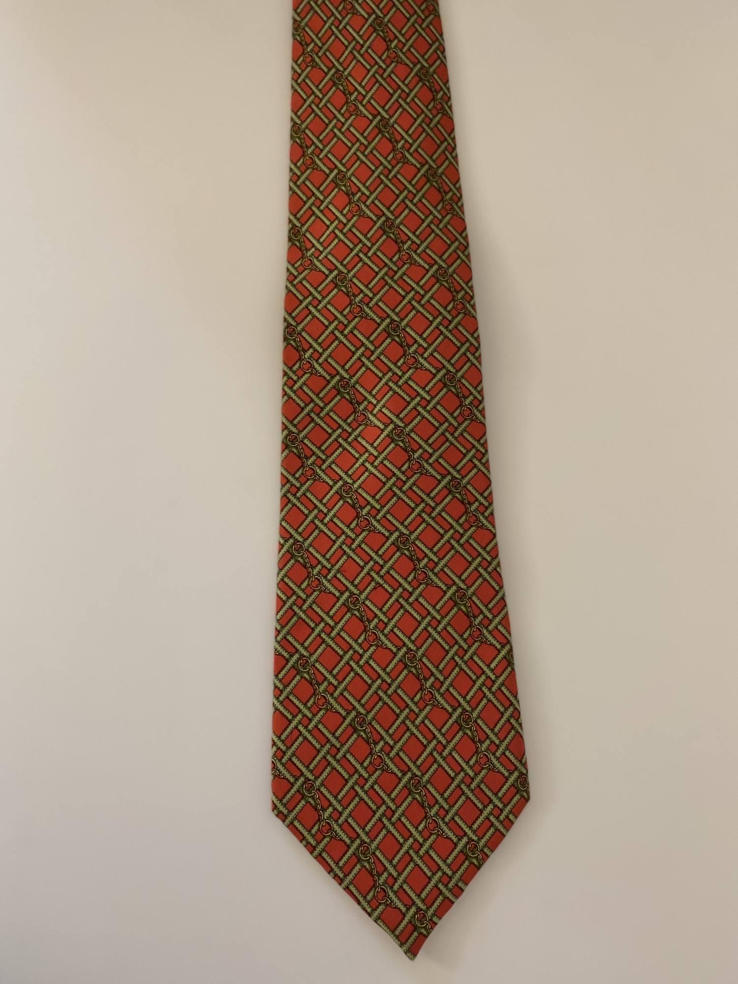 Gravata Gucci Vermelha e Verde