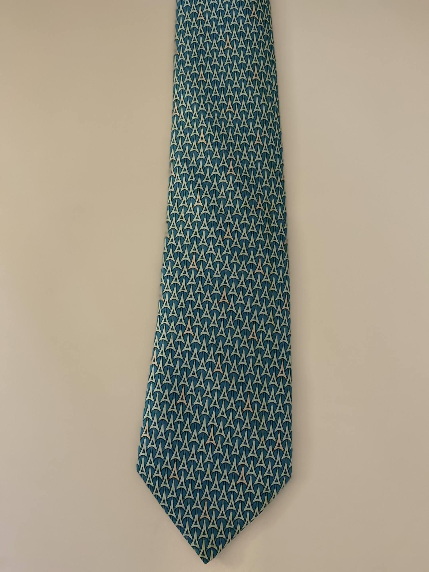 Gravata Hermès Azul Tiffany