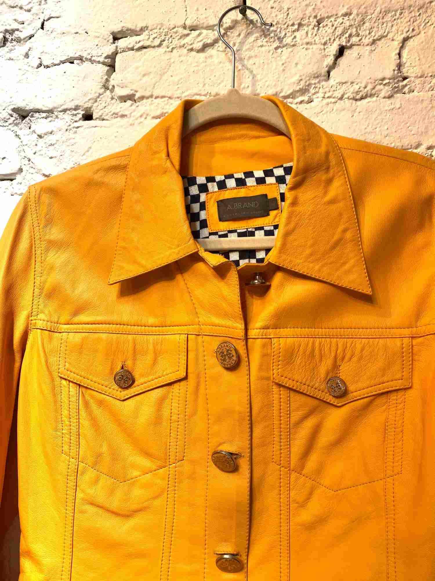 Jaqueta A.Brand Couro Amarelo