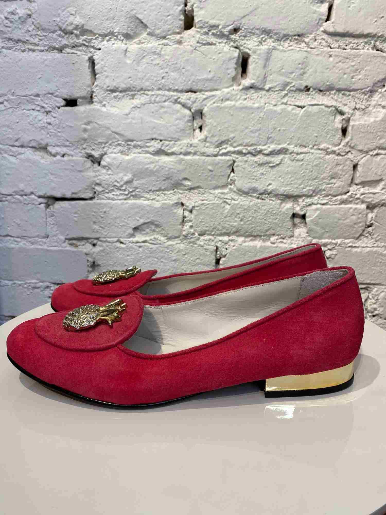 Mocassim Not a Shoe Abacaxi e Pedras Vermelho