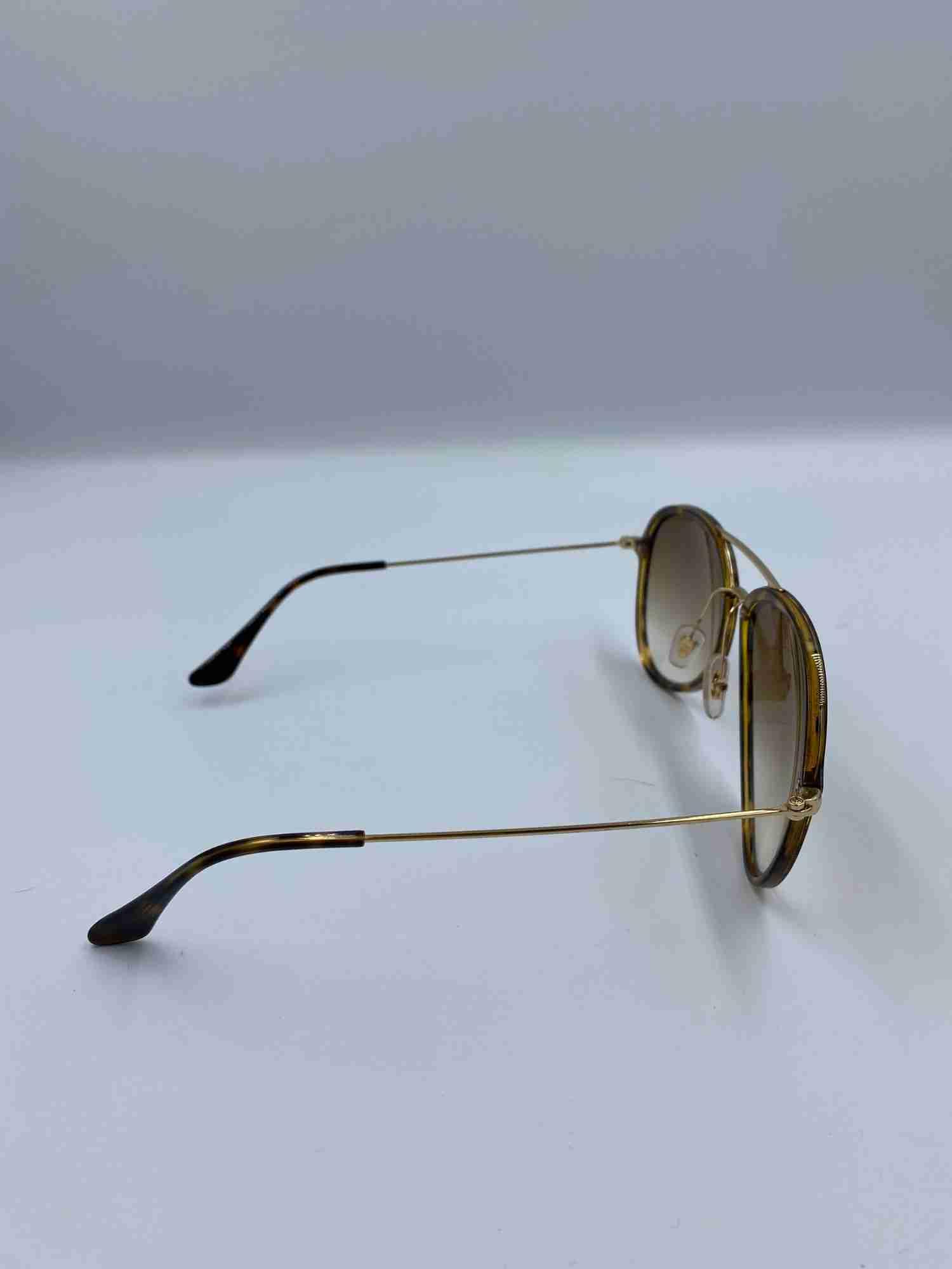 Óculos Rayban Marrom e Dourado