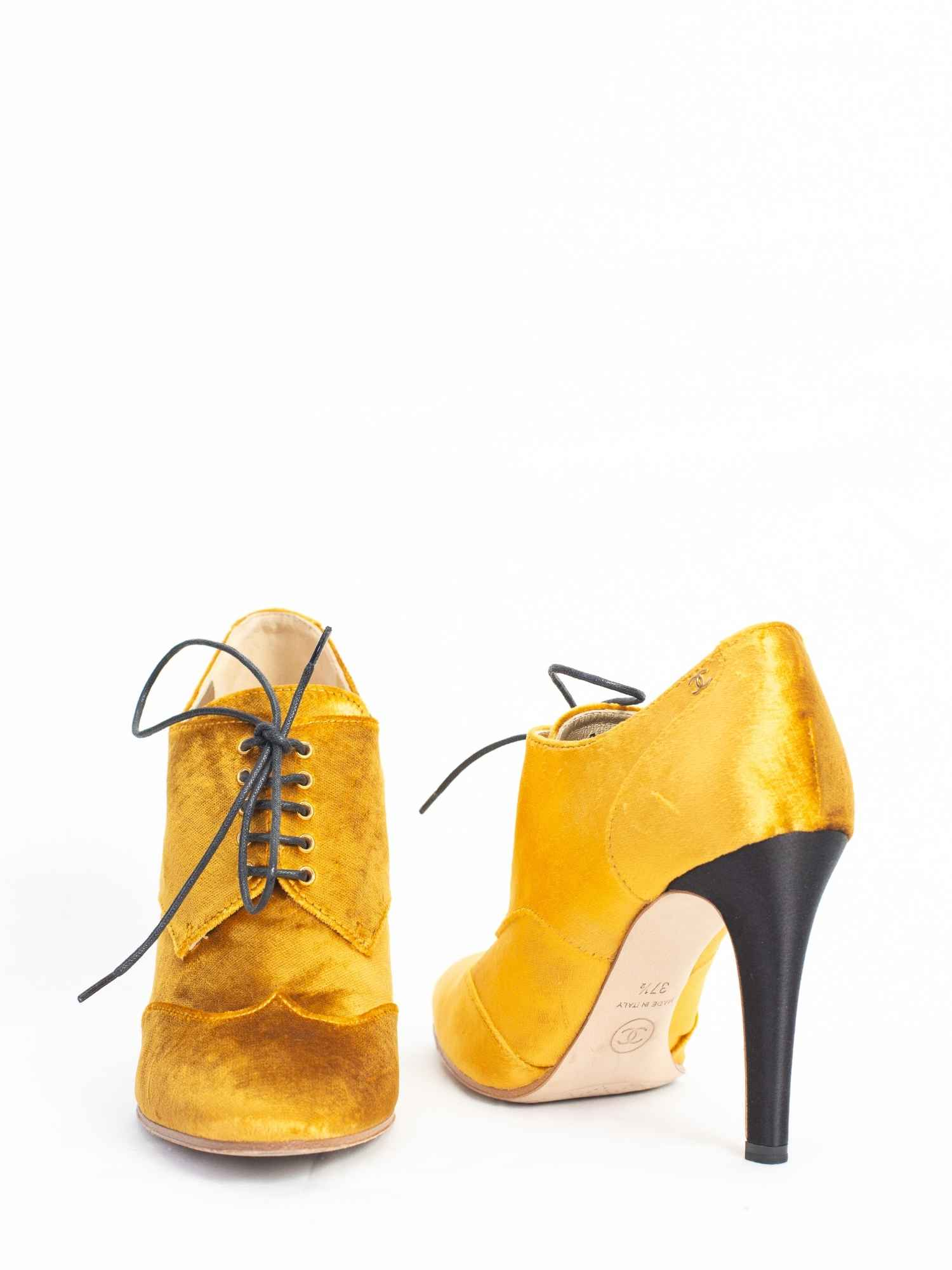 Sapato Chanel Veludo Amarelo