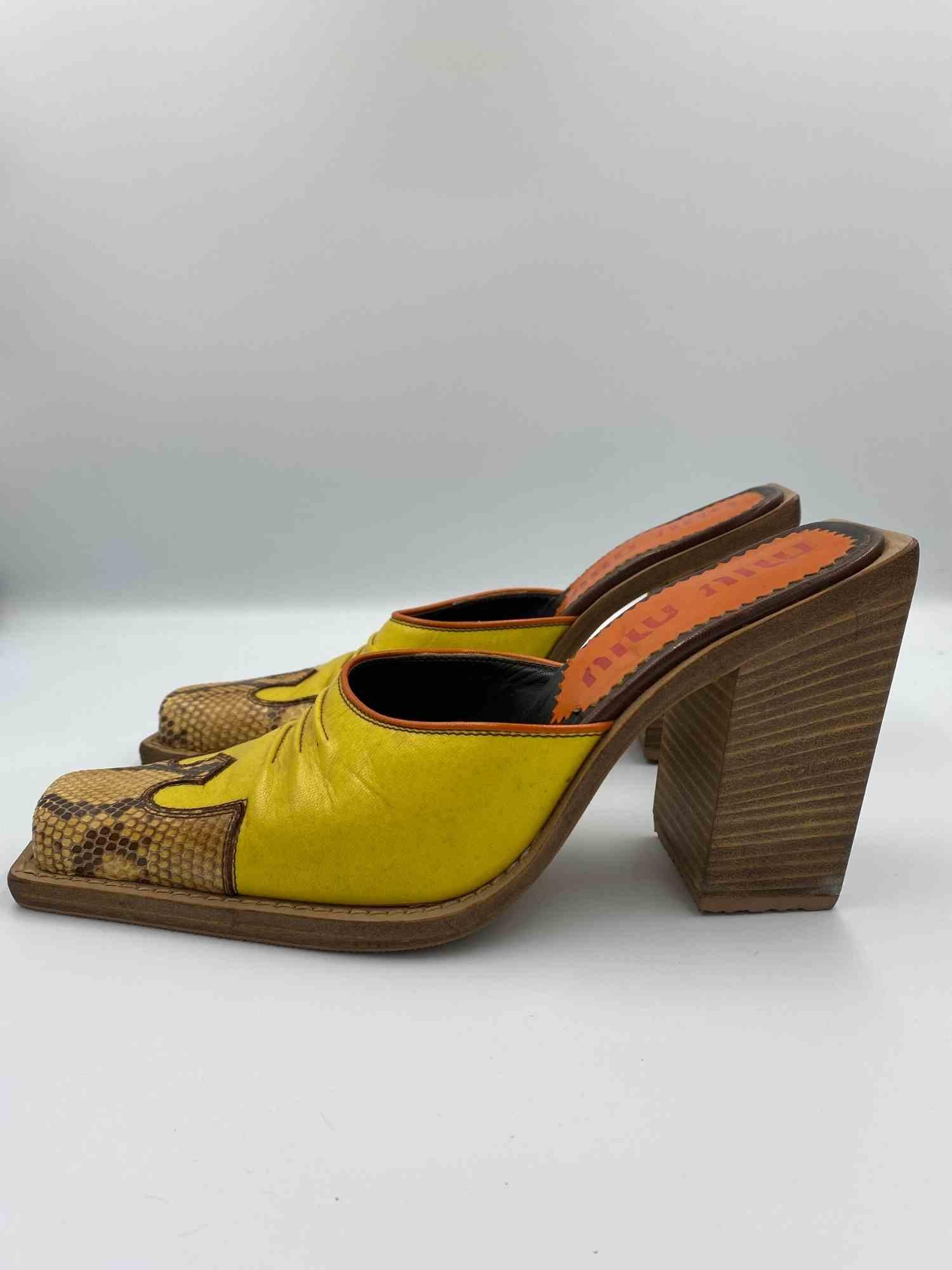 Sapato Miu Miu Python Amarelo