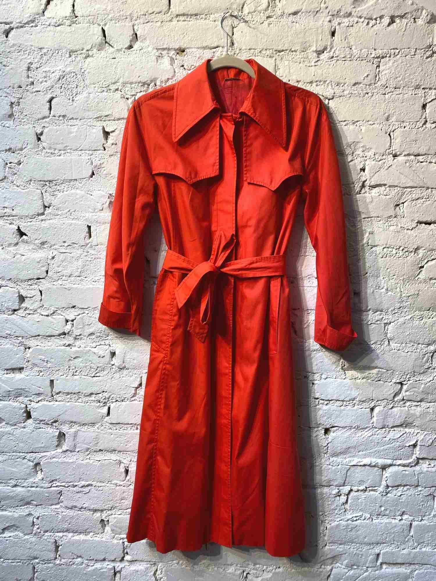 Trench Coat  Brecho Paris Vermelho