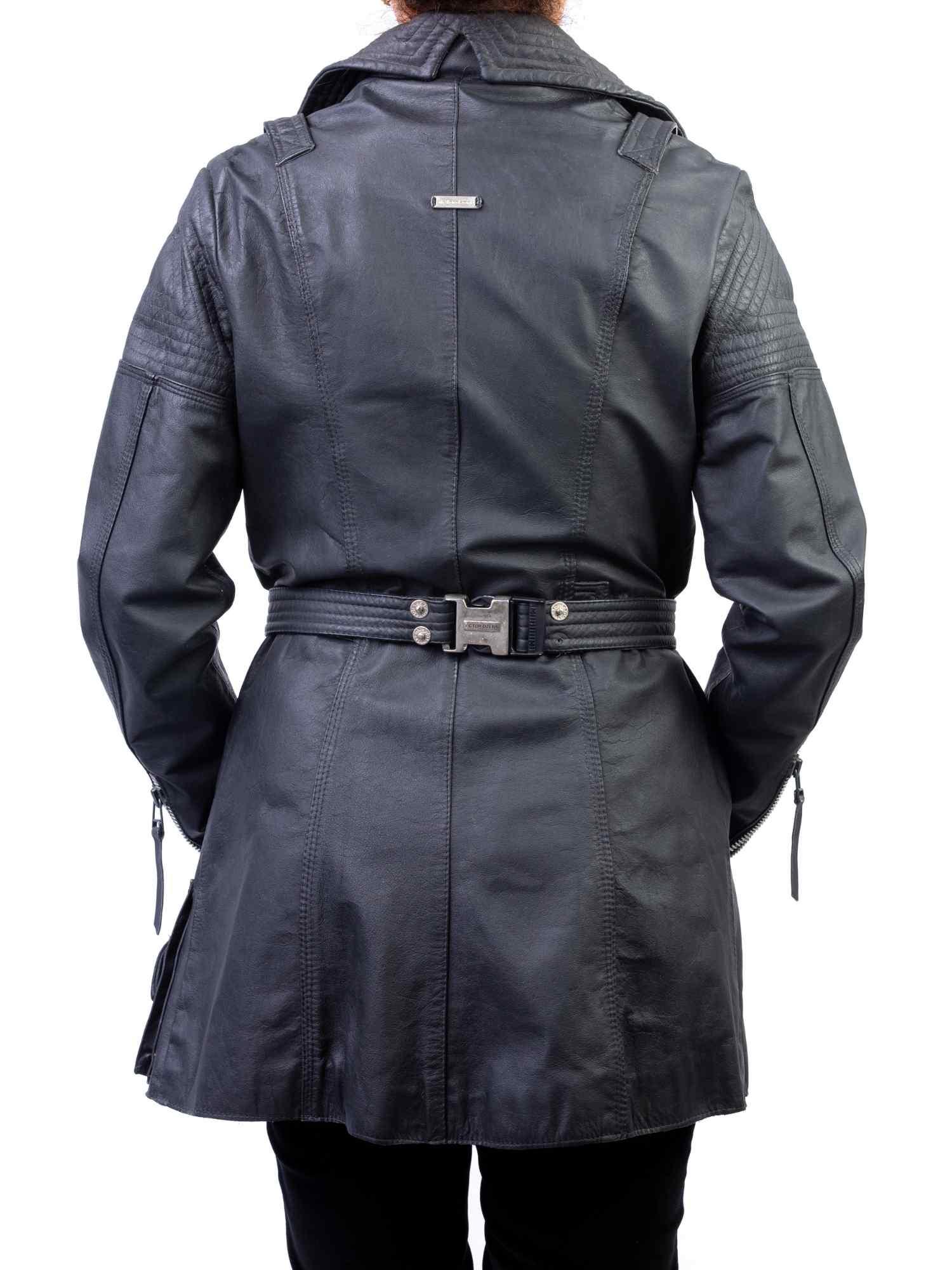 Trench Coat Victor Dzenk Couro