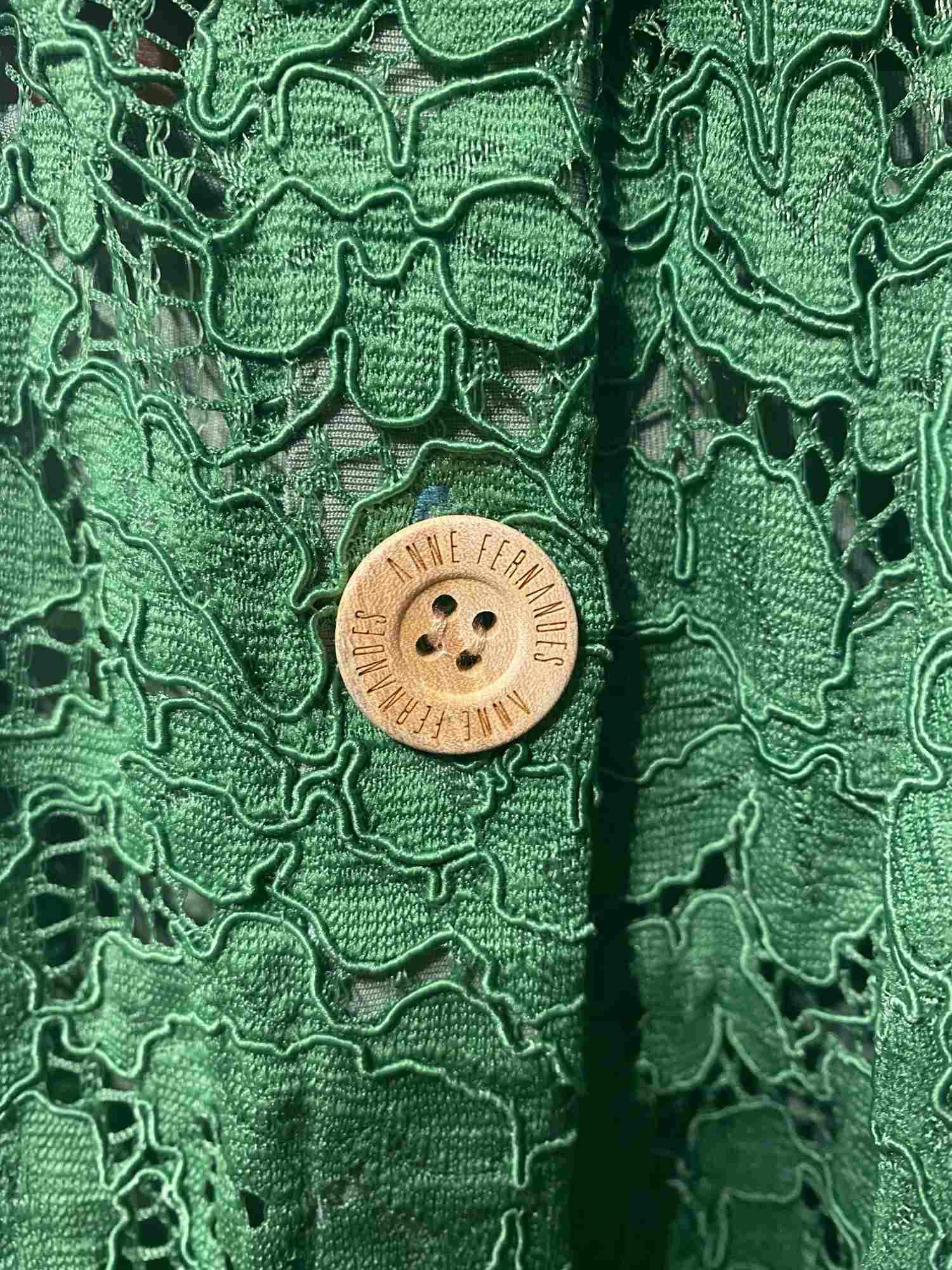Vestido Anne Fernandes Renda Verde