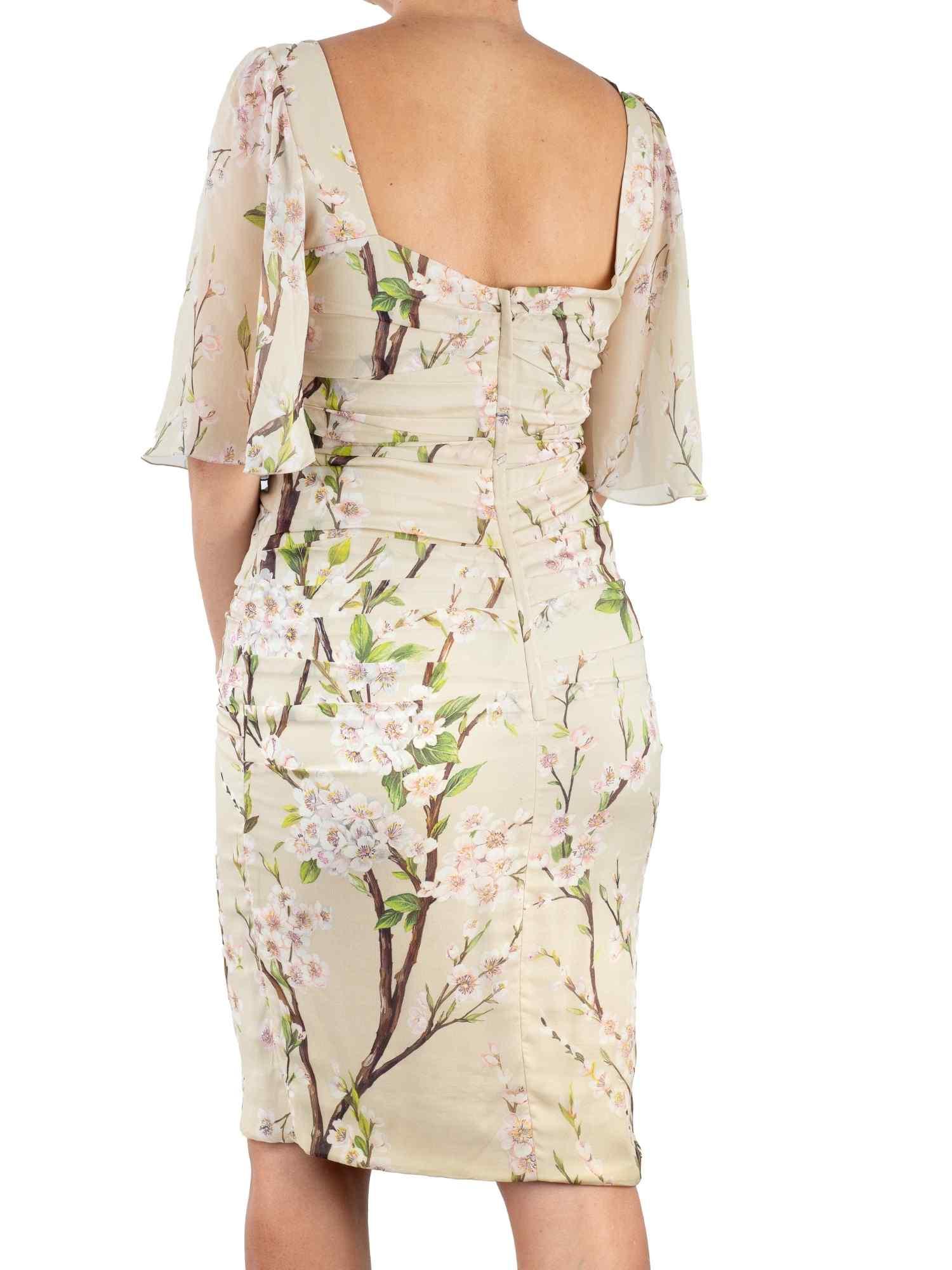 Vestido Dolce & Gabbana Seda Pura Floral