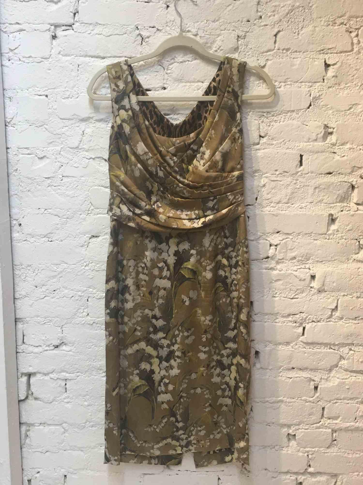 Vestido Dolce & Gabbana Floral Verde