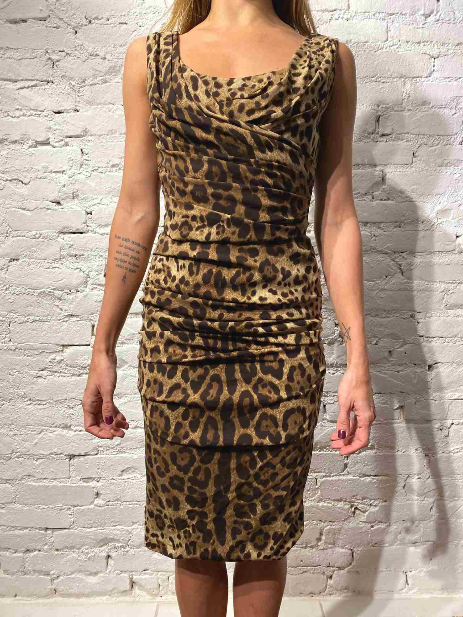 Vestido Dolce & Gabbana Onça