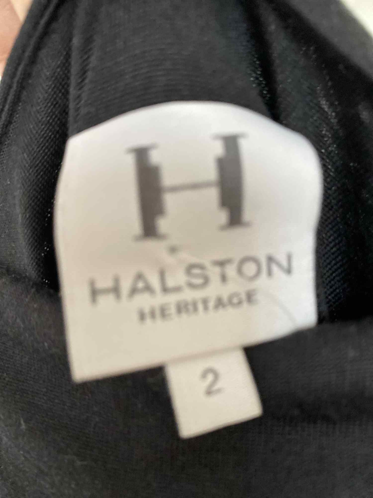 Vestido Halston Heritage Justo Franzido