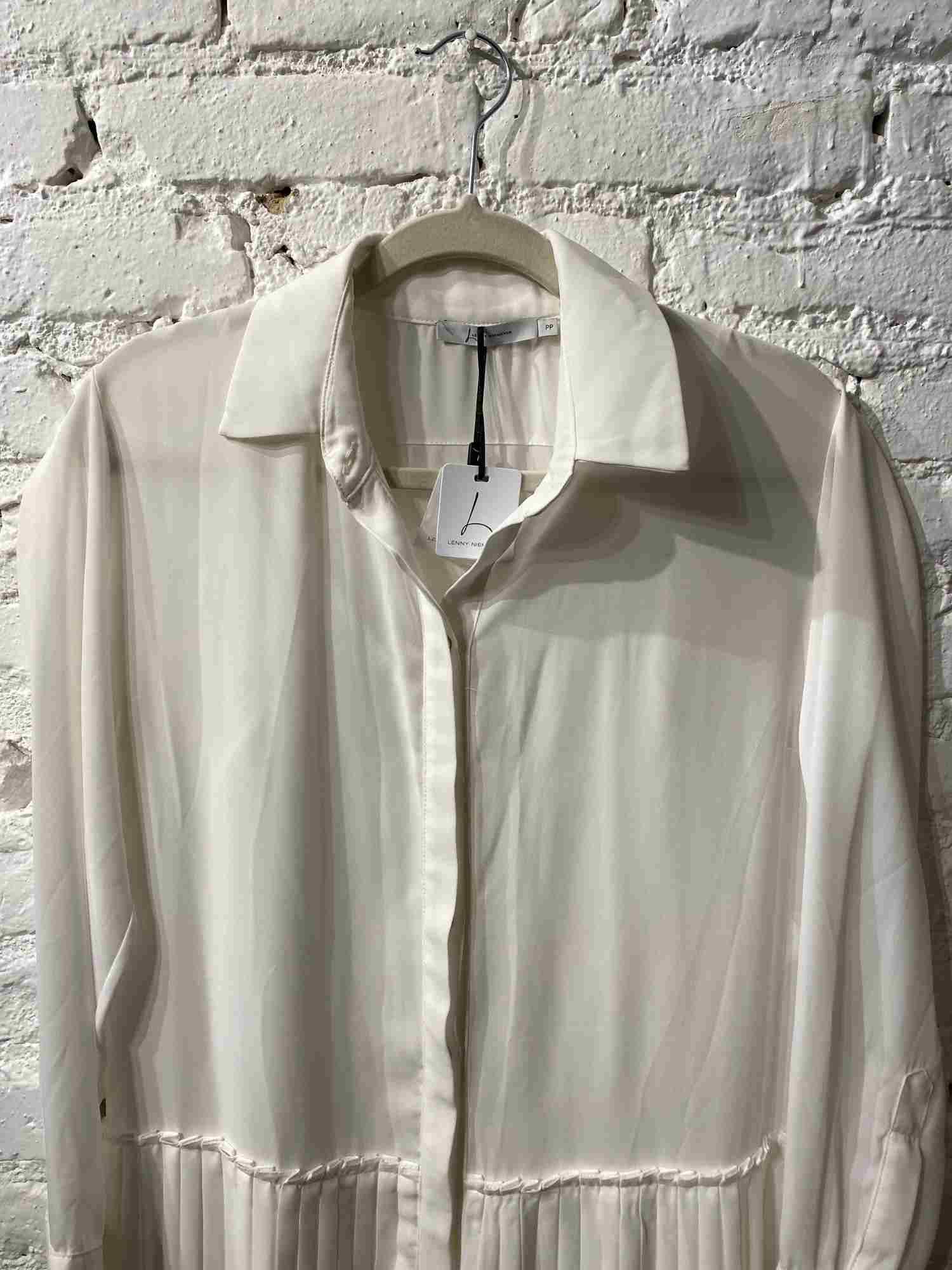 Vestido Lenny Plissado Branco