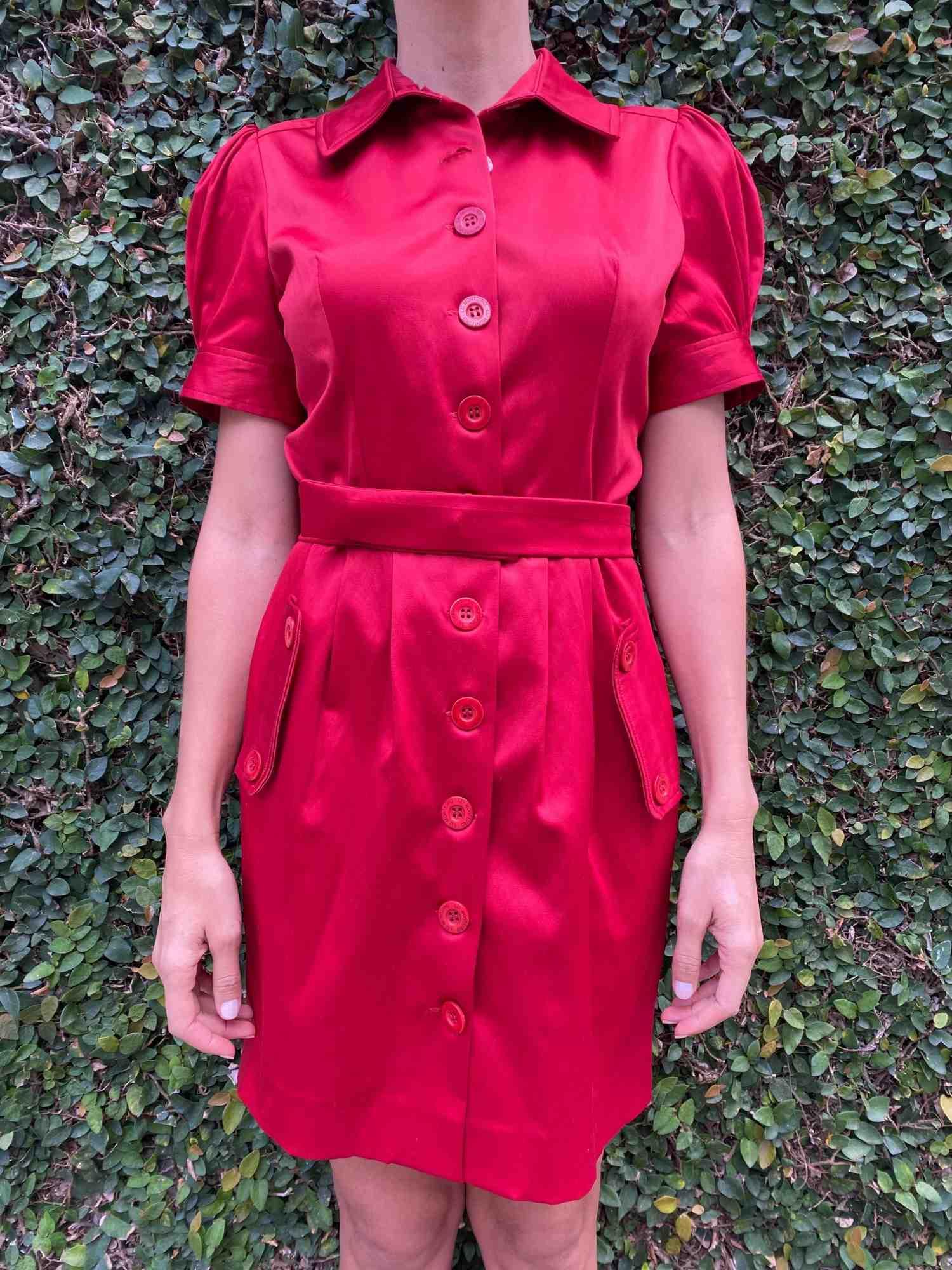 Vestido Lu Monteiro Cetim Vermelho