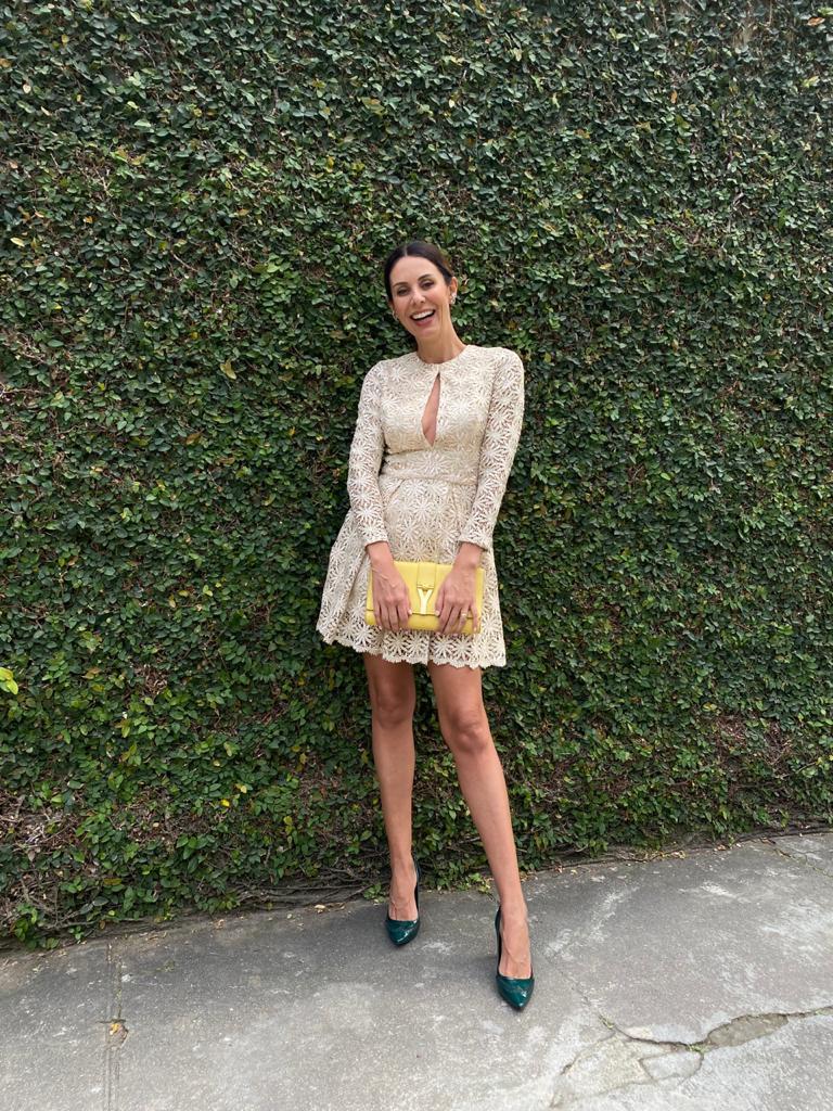 Vestido Lu Monteiro Renda Dourado