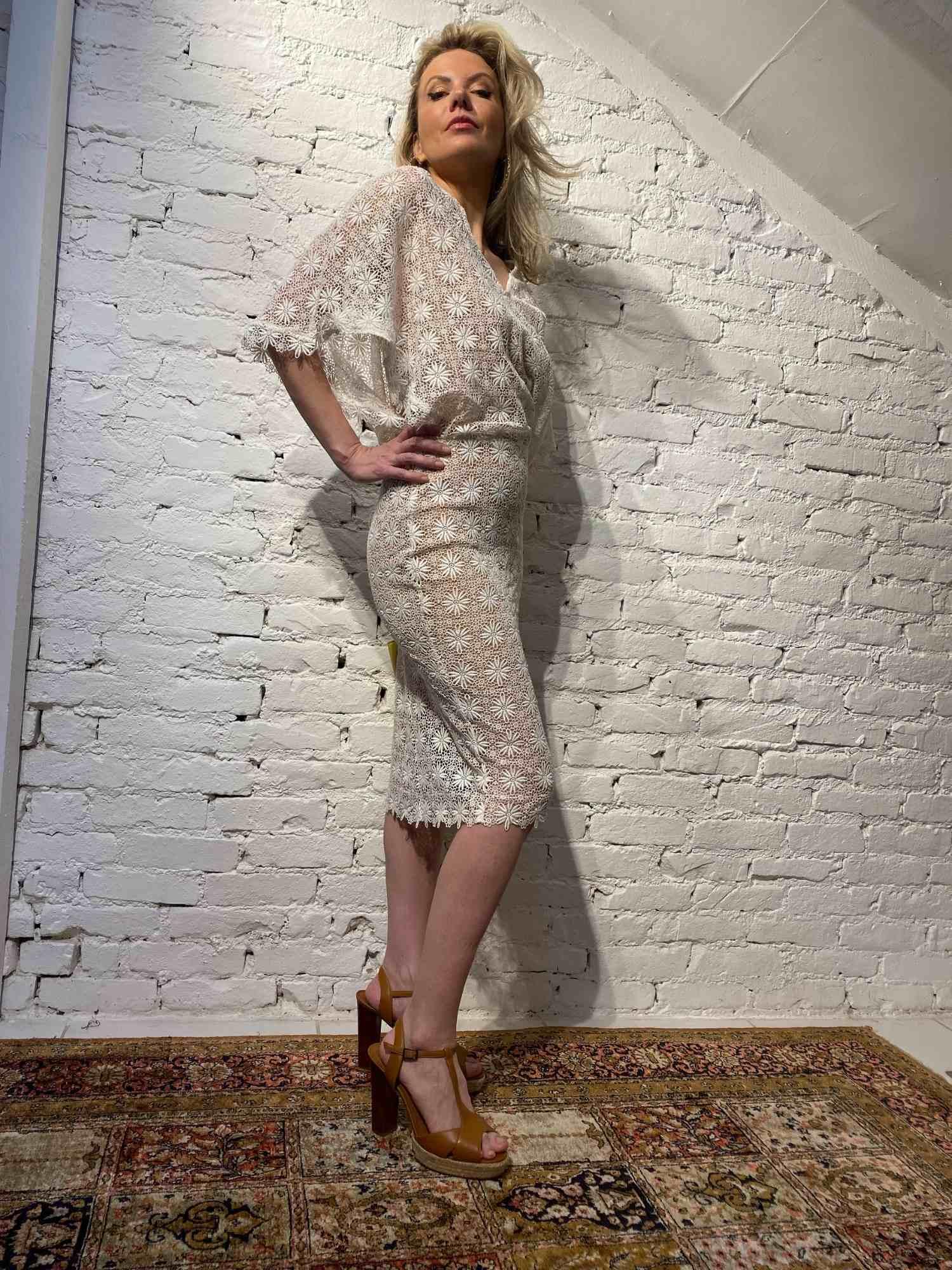 Vestido Mixed Renda Branco